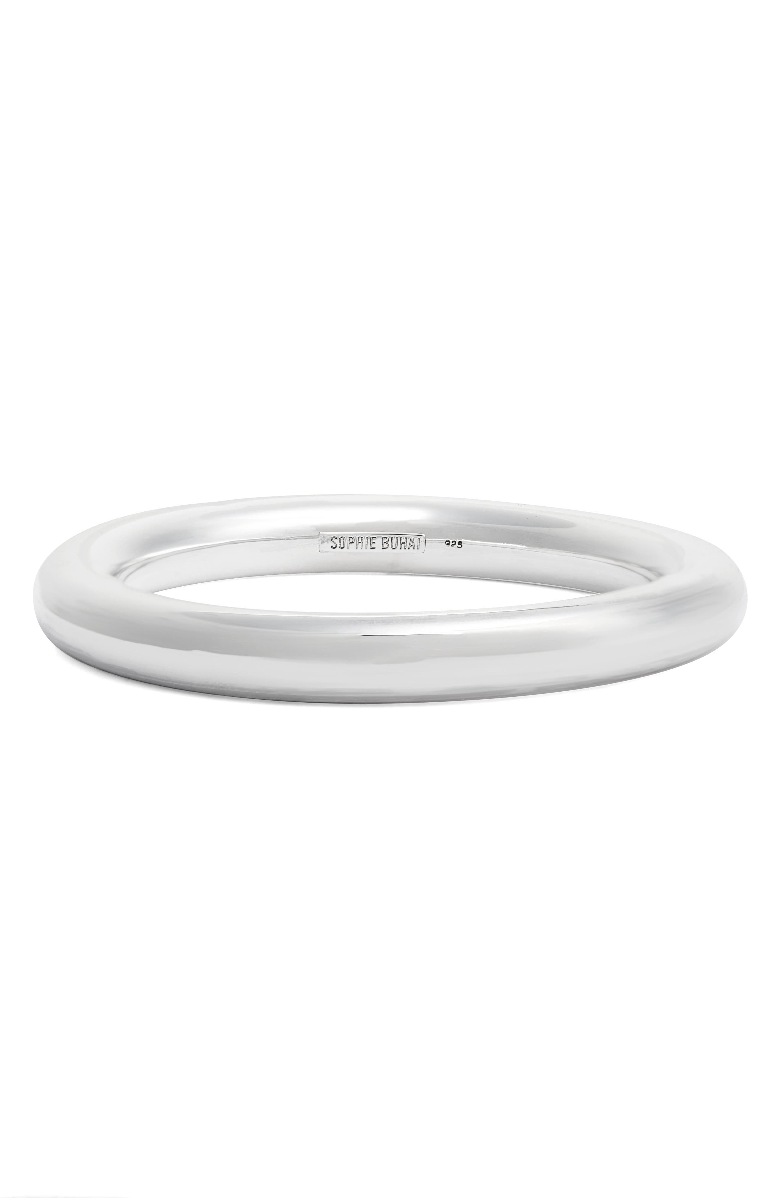 Classic Circle Bangle,                         Main,                         color, Sterling Silver