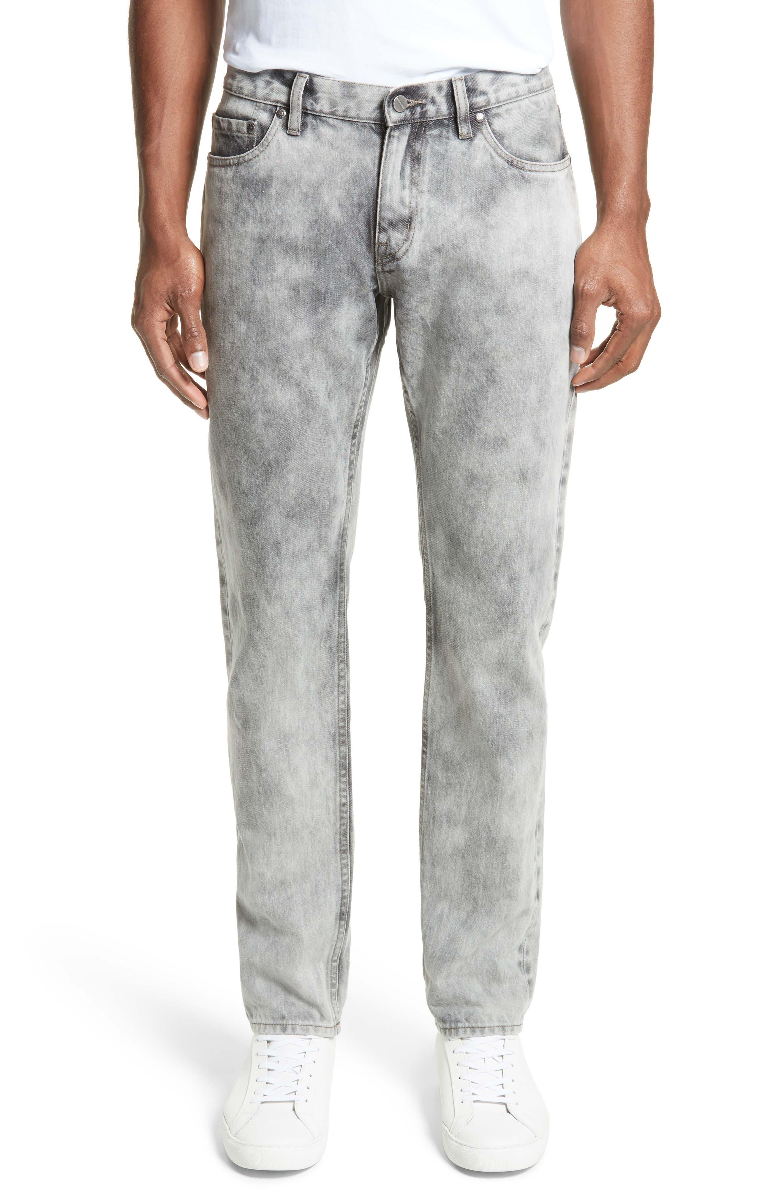 Alternate Image 1 Selected - Saturdays NYC Luke Straight Leg Jeans (Washed Black)