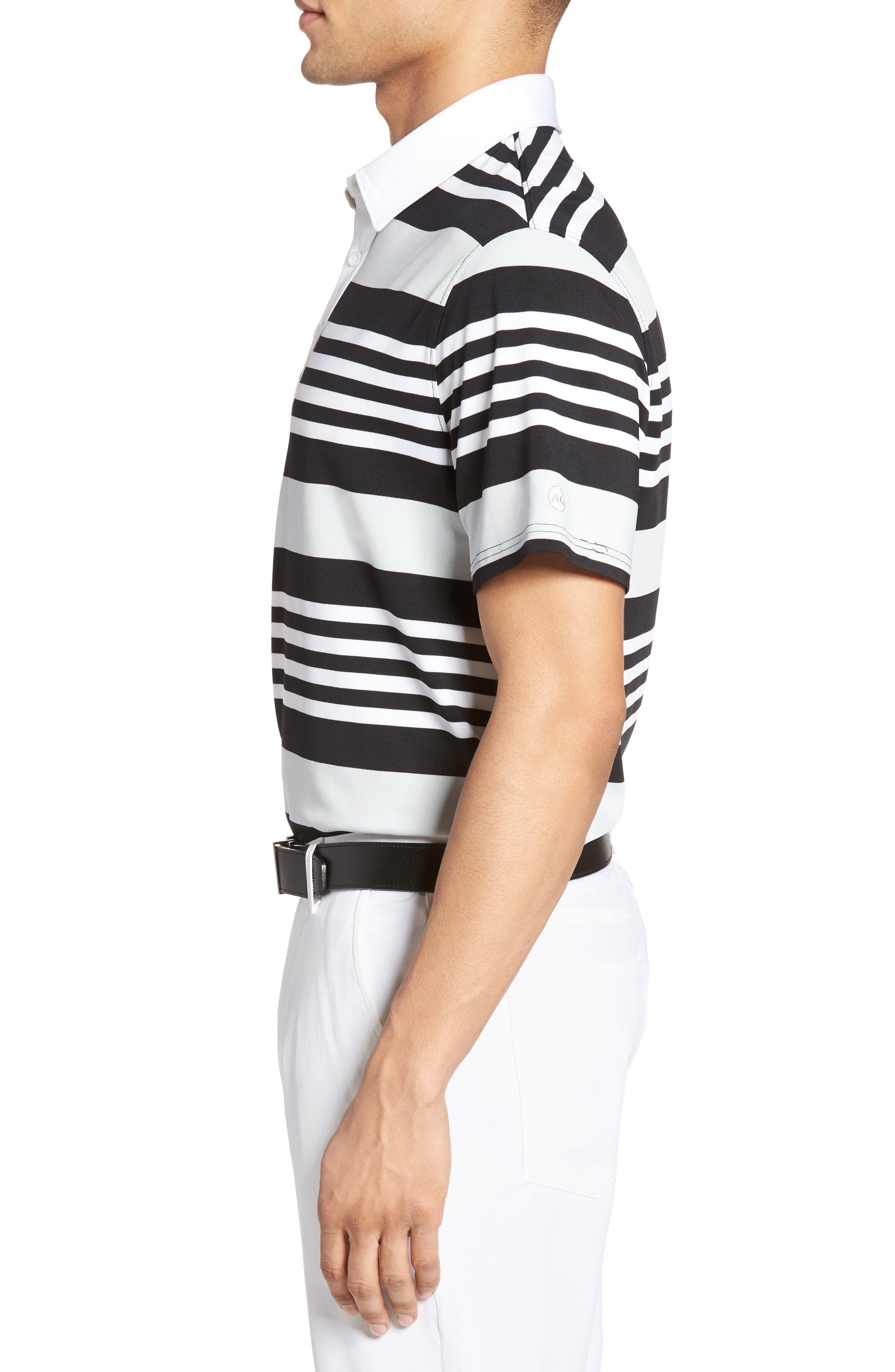 Alternate Image 3  - AG The Benson Stripe Piqué Polo