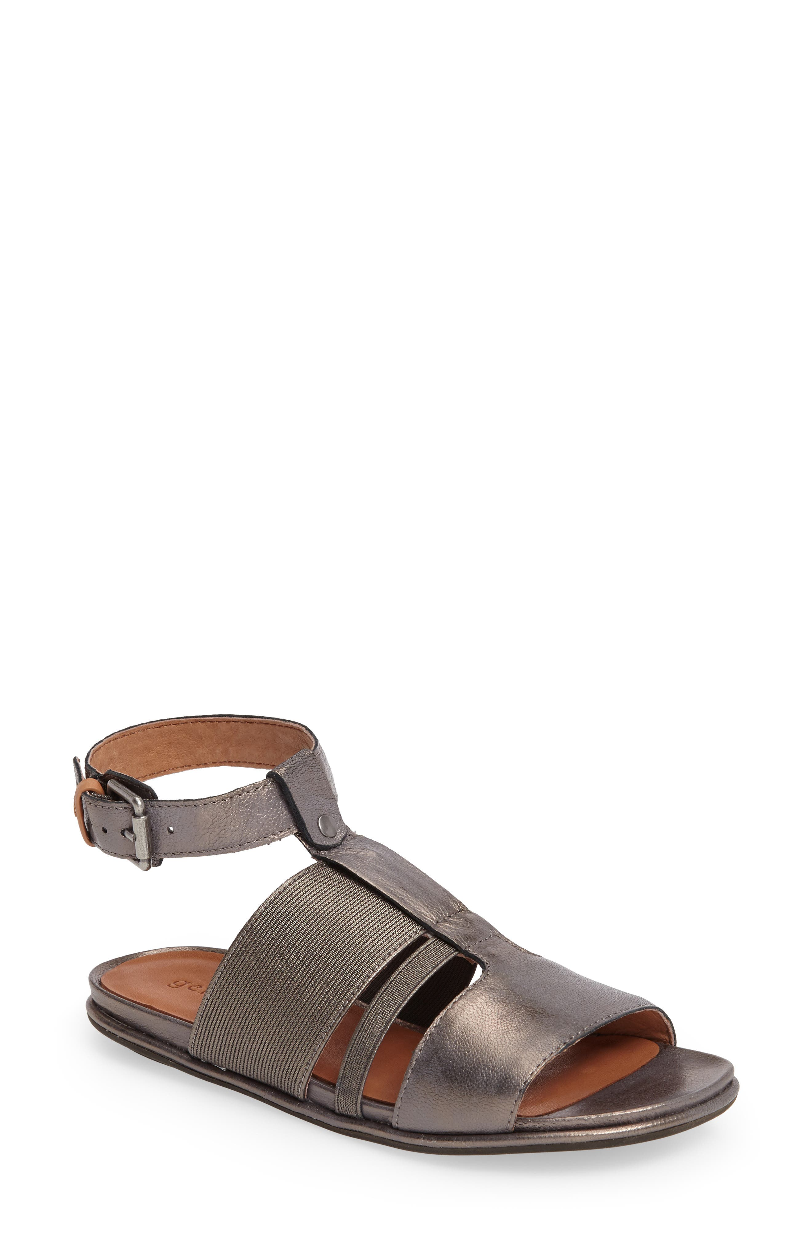 by Kenneth Cole Ophelia Sandal,                             Main thumbnail 1, color,                             Pewter Leather