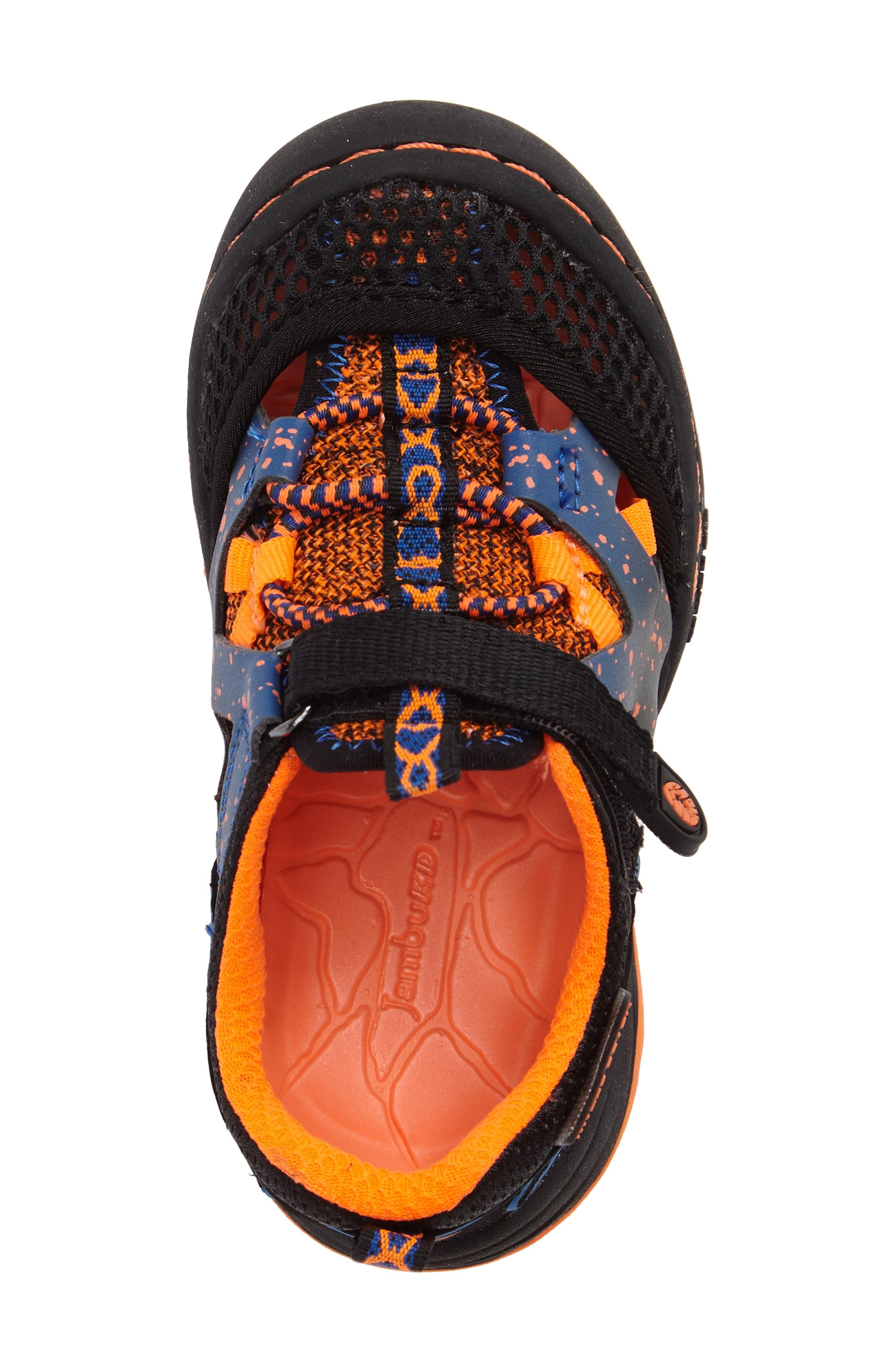 Squamata Sport Sneaker,                             Alternate thumbnail 5, color,                             Black/ Orange