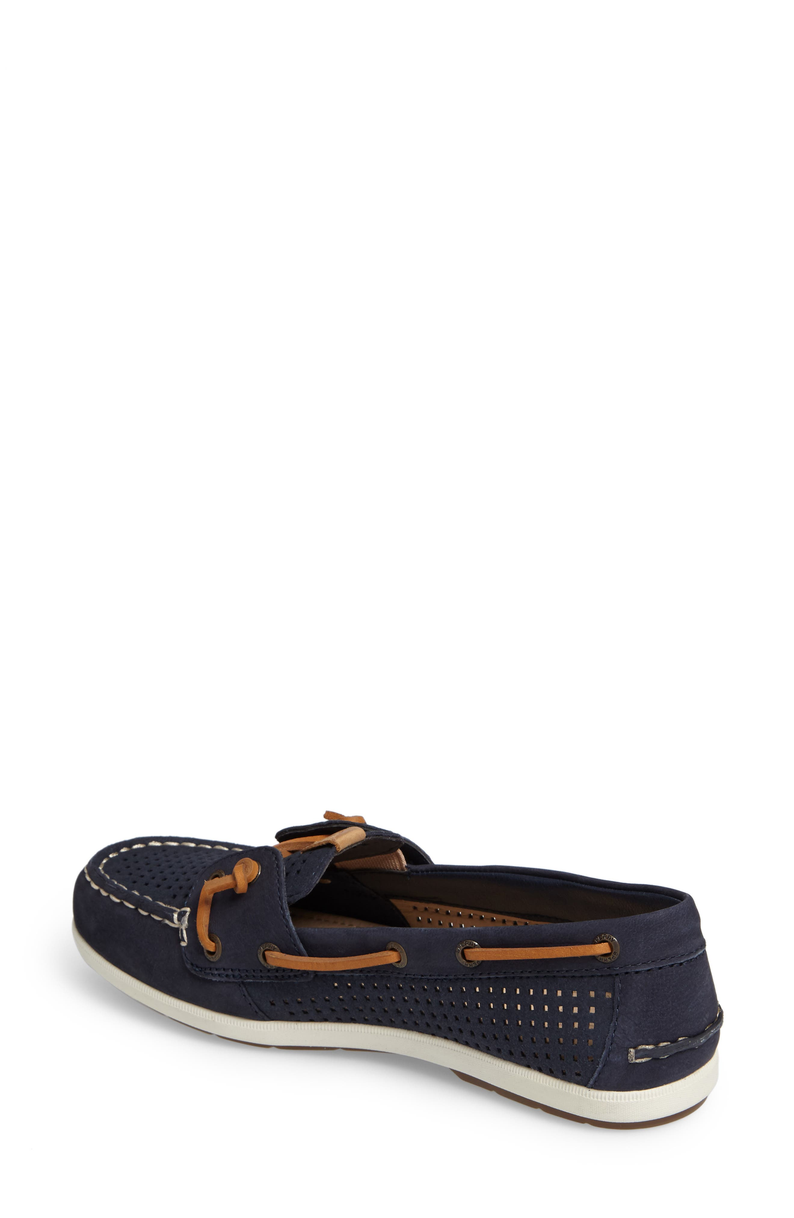 Coil Ivy Boat Shoe,                             Alternate thumbnail 2, color,                             Navy Leather