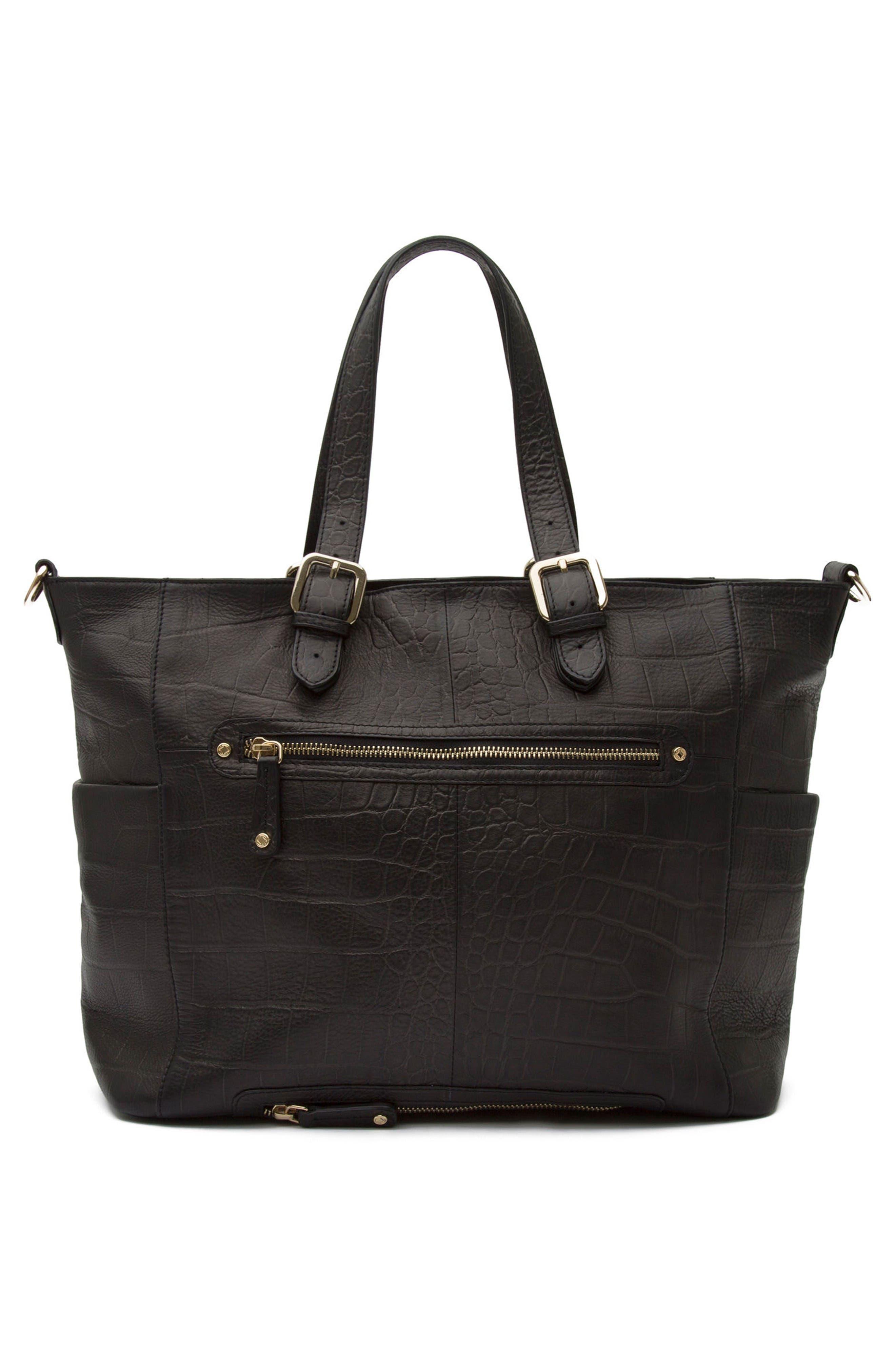 Alternate Image 2  - Kerikit Francis Croc Embossed Leather Diaper Bag