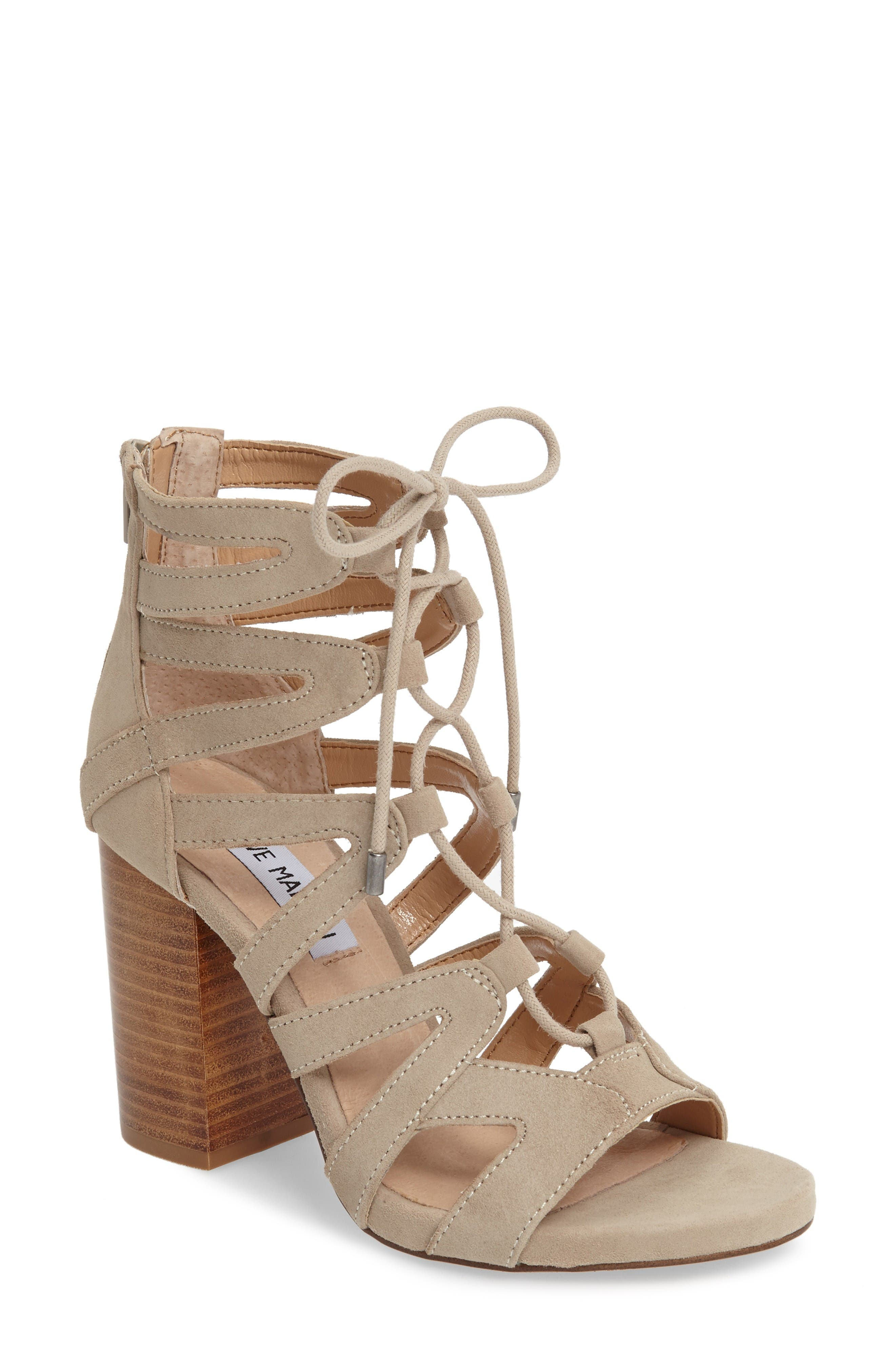 Gwyneth Sandal,                         Main,                         color, Taupe Suede