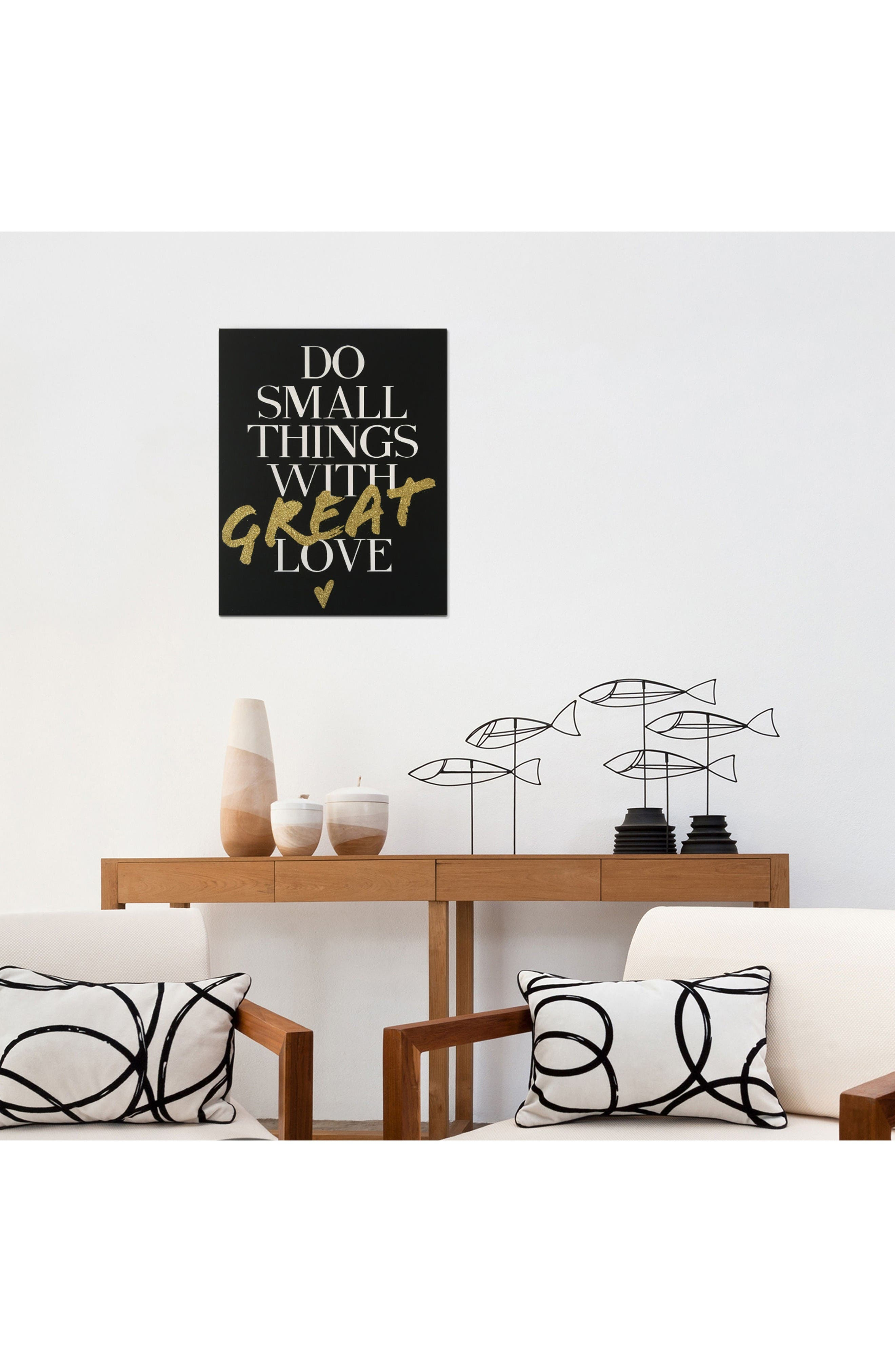 Alternate Image 2  - Wynwood Do Small Things with Great Love Canvas Wall Art