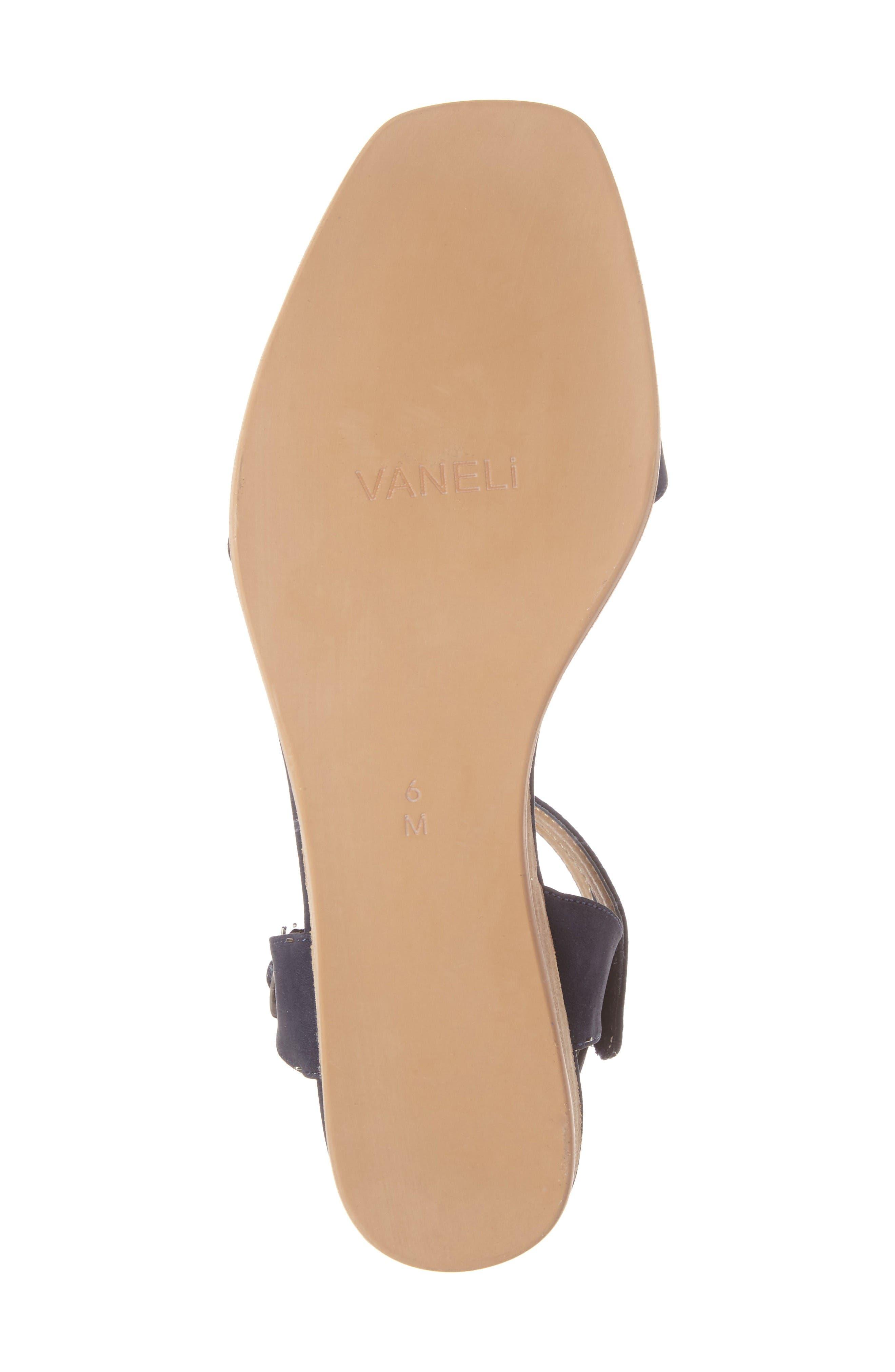 Jarita Ankle Strap Sandal,                             Alternate thumbnail 6, color,                             Navy Leather