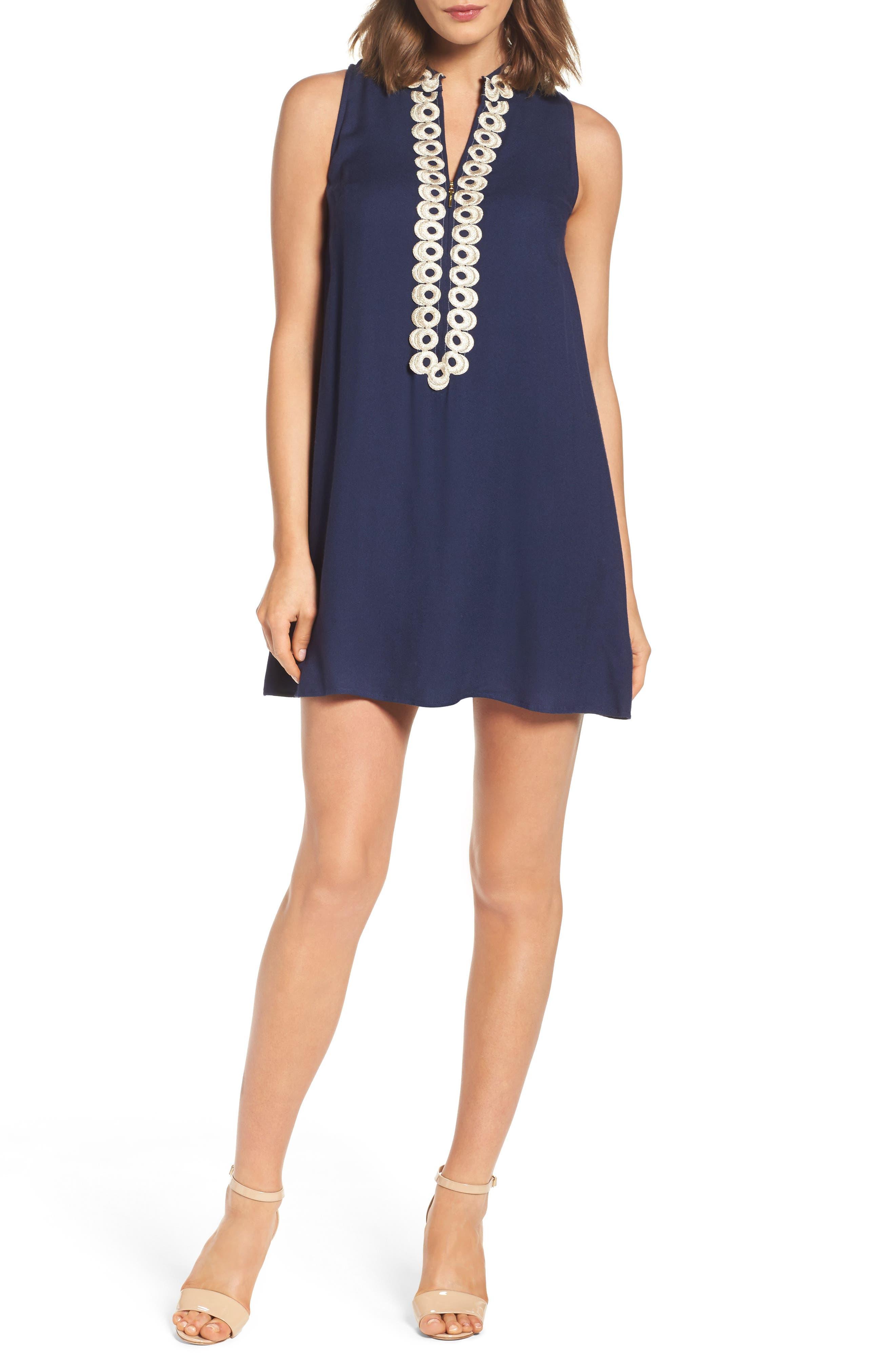 Jane Shift Dress,                         Main,                         color, True Navy