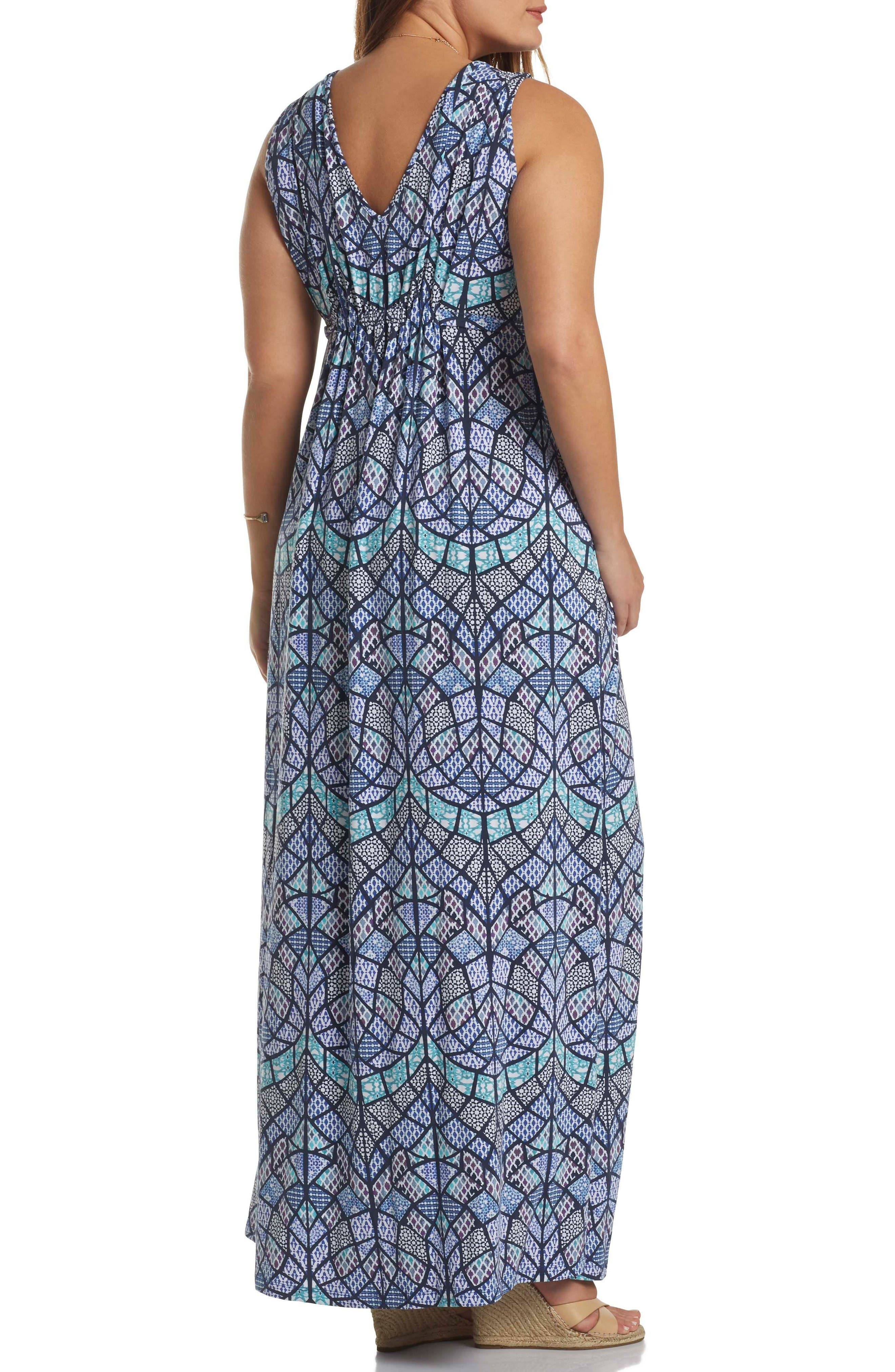 Alternate Image 2  - Tart Grecia Sleeveless Jersey Maxi Dress (Plus Size)