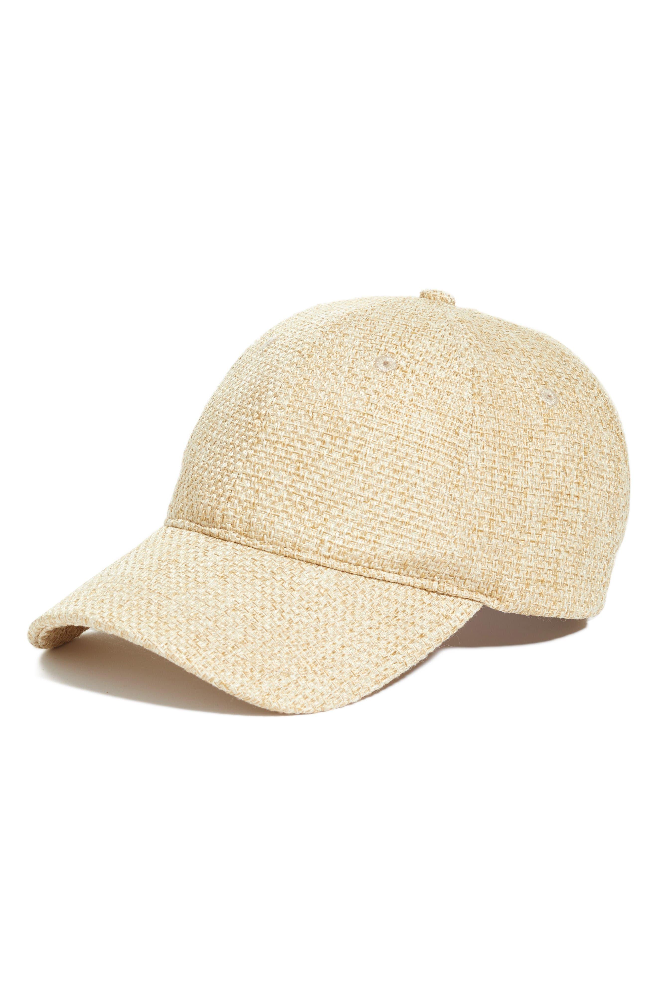 Alternate Image 1 Selected - Treasure & Bond Straw Baseball Cap