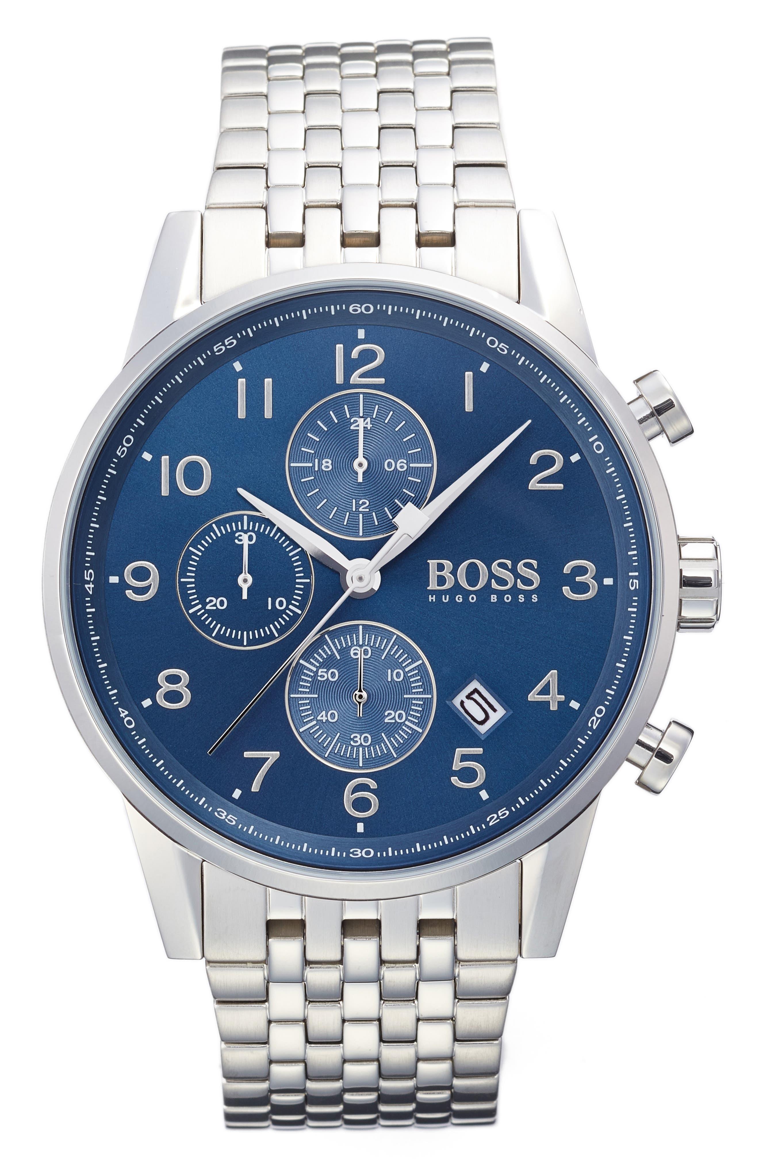 BOSS Navigator Chronograph Bracelet Watch, 44mm