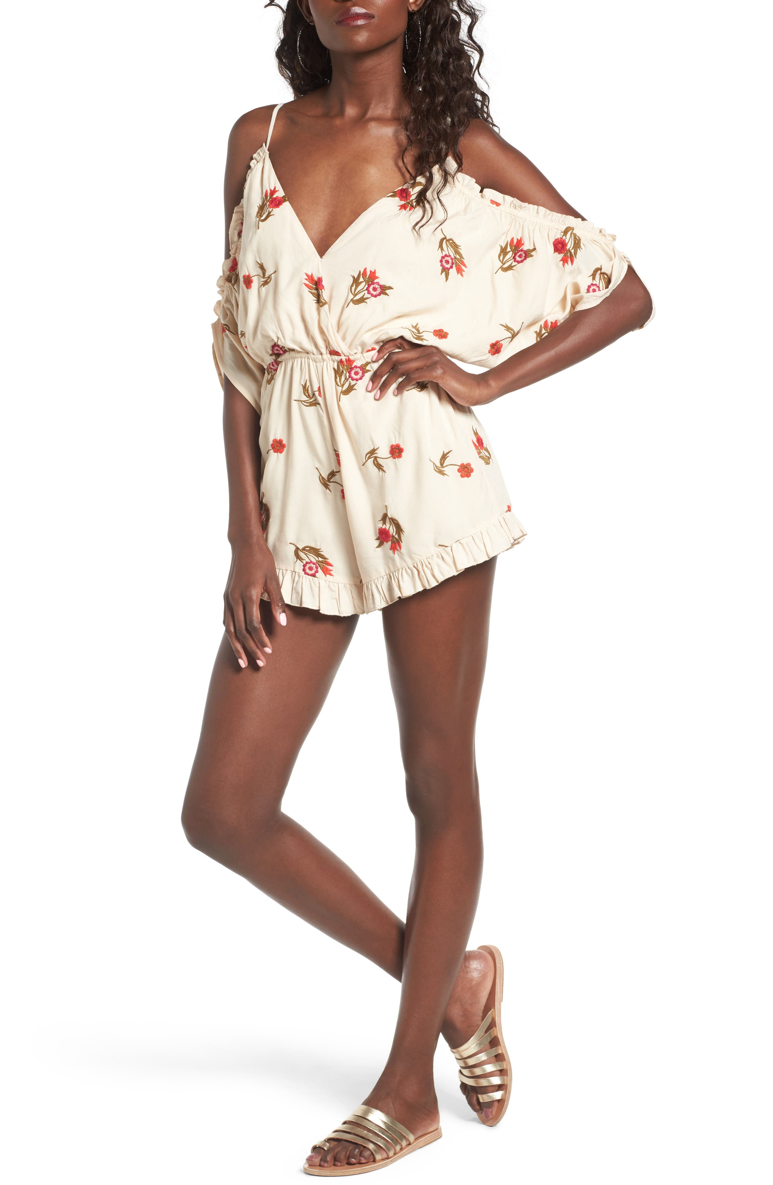 Alternate Image 1 Selected - Lovers + Friends Malia Off the Shoulder Romper