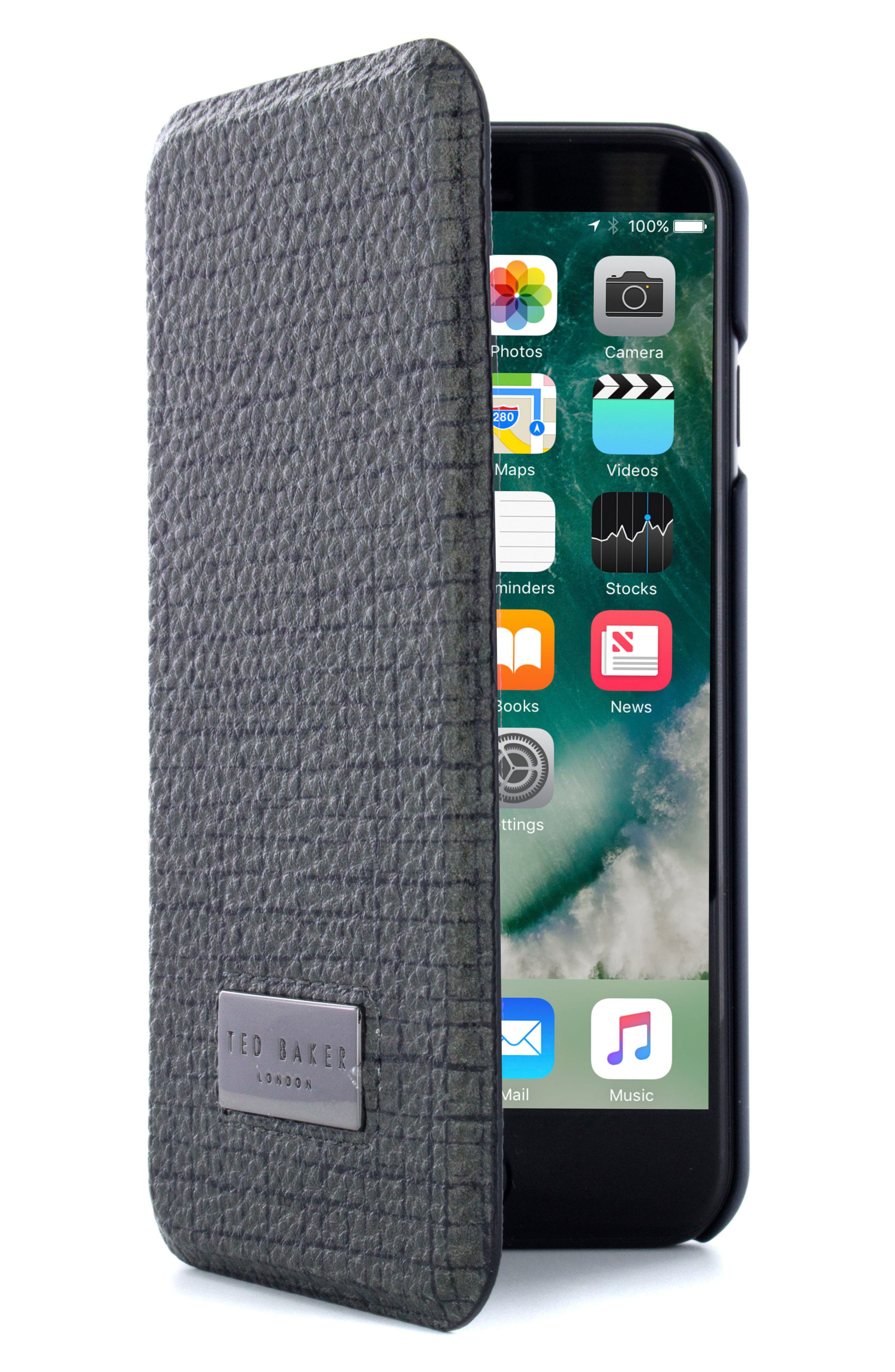 Ted Baker London iPhone 6/6s/7/8 & 6/6s/7/8 Plus Card Slot Folio Case