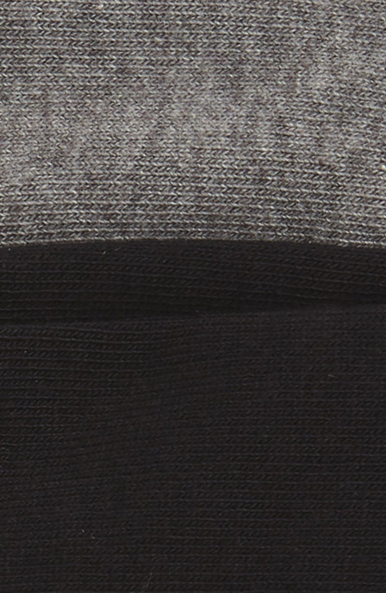 2-Pack Everyday Liner Socks,                             Alternate thumbnail 2, color,                             Black/ Grey