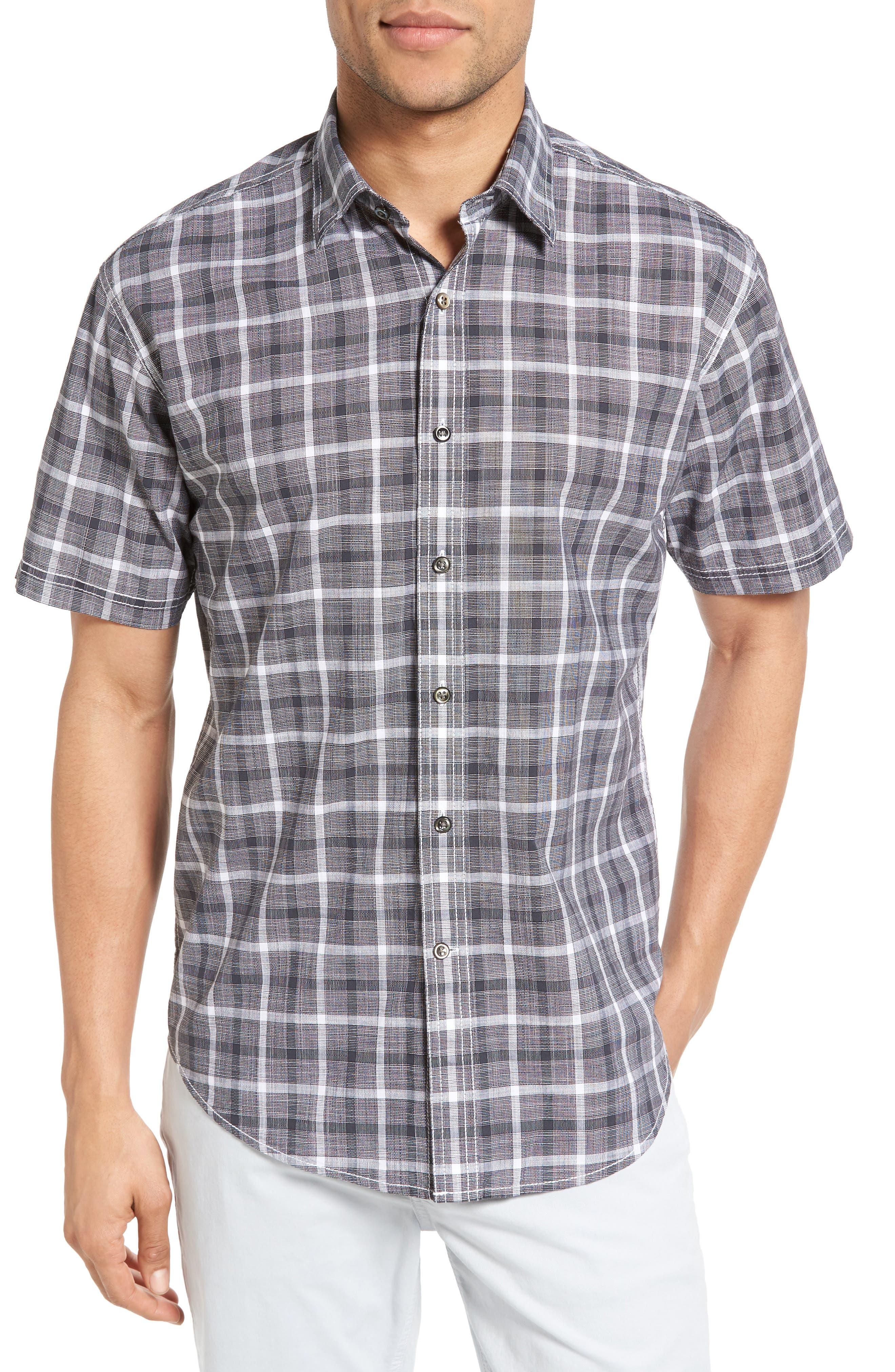 James Campbell Oakley Plaid Sport Shirt