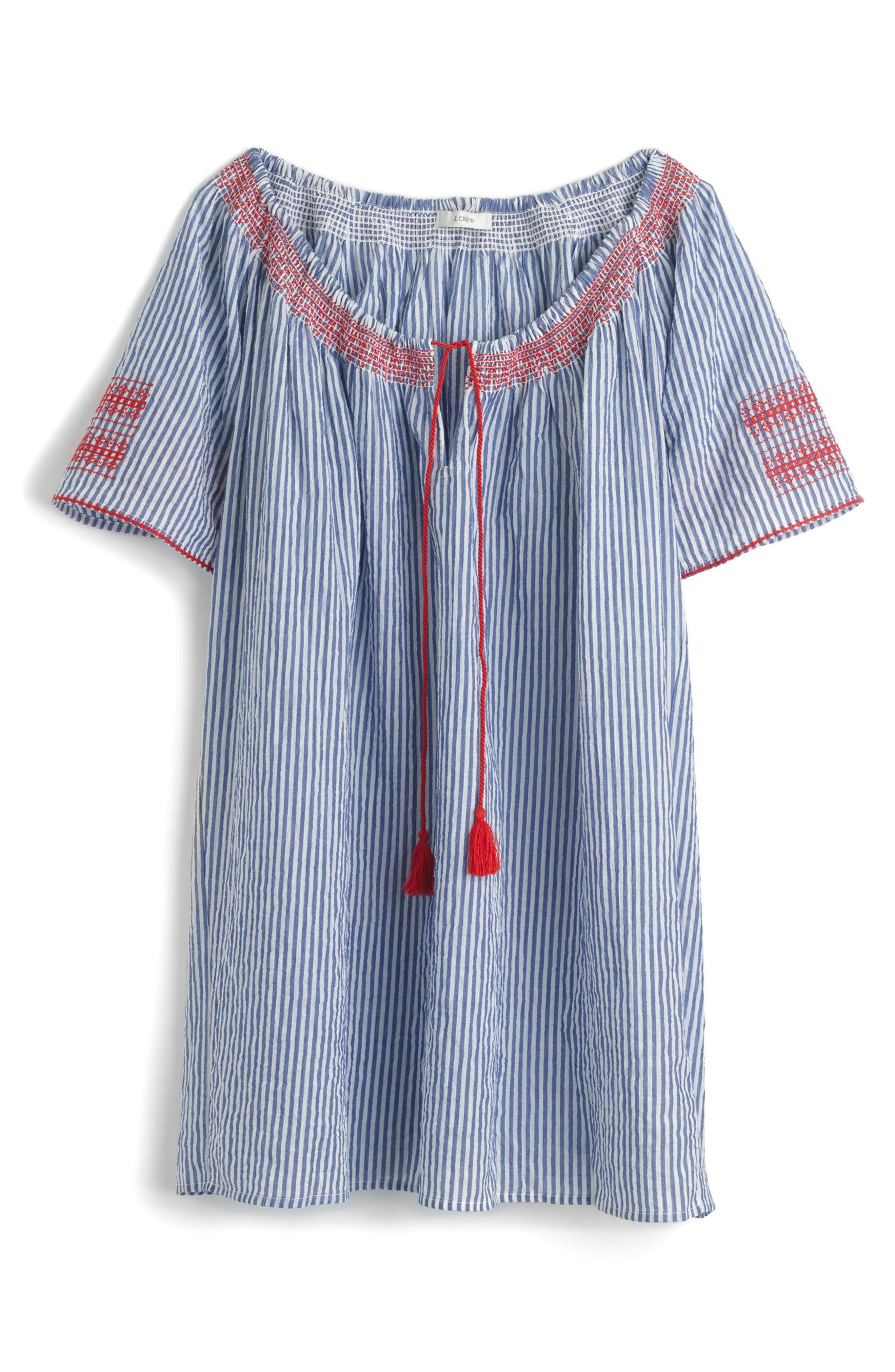 Alternate Image 3  - J.Crew Embroidered Tie Front Tunic