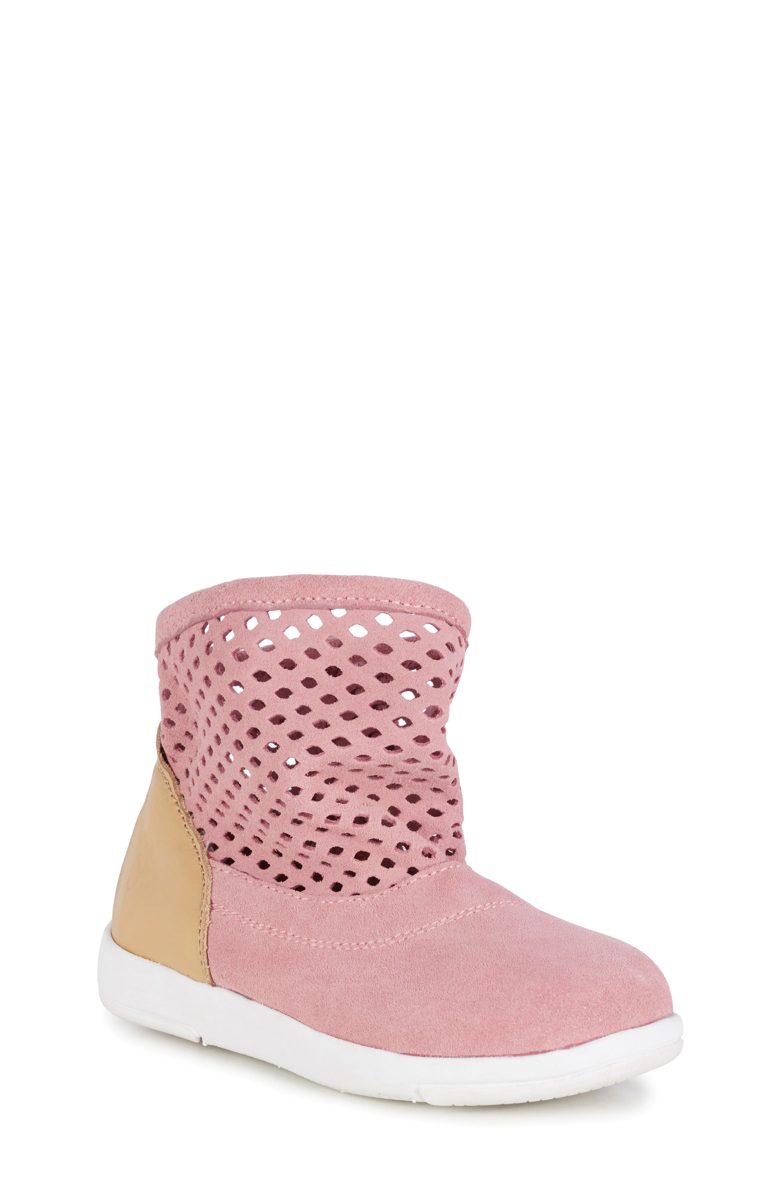 Numeralla Boot,                         Main,                         color, Pale Pink Suede