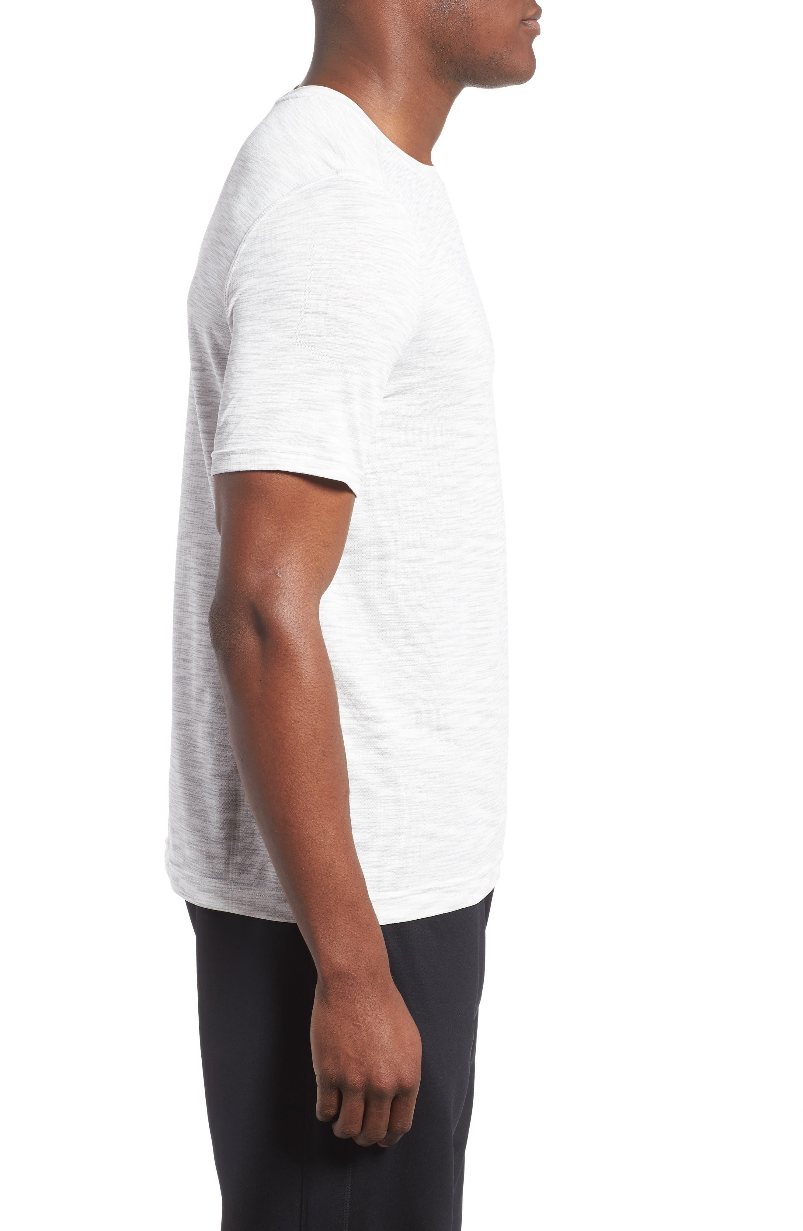 Threadborne Regular Fit T-Shirt,                             Alternate thumbnail 3, color,                             White