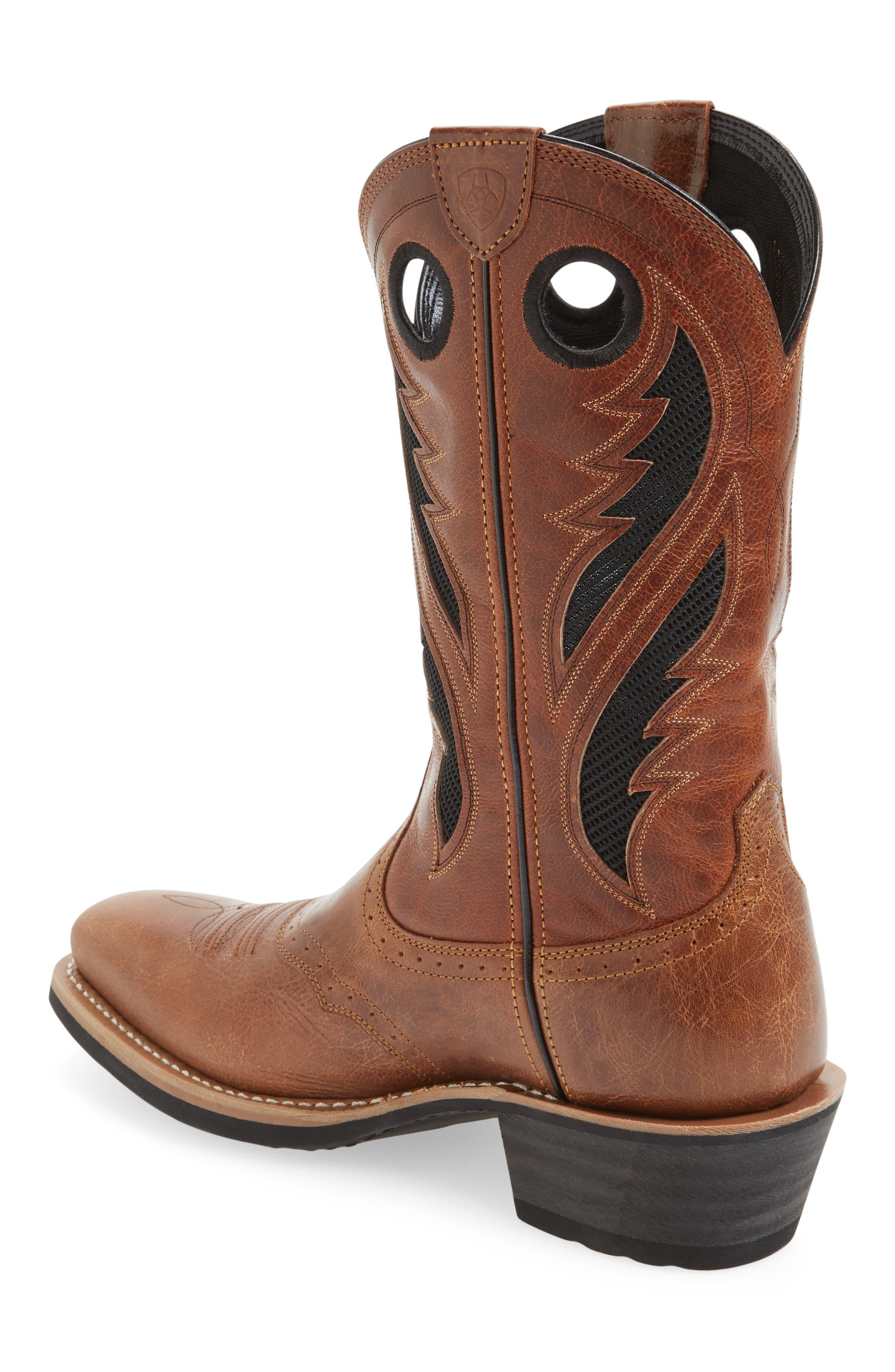 Heritage Roughstock VentTEK Cowboy Boot,                             Alternate thumbnail 2, color,                             Gingersnap