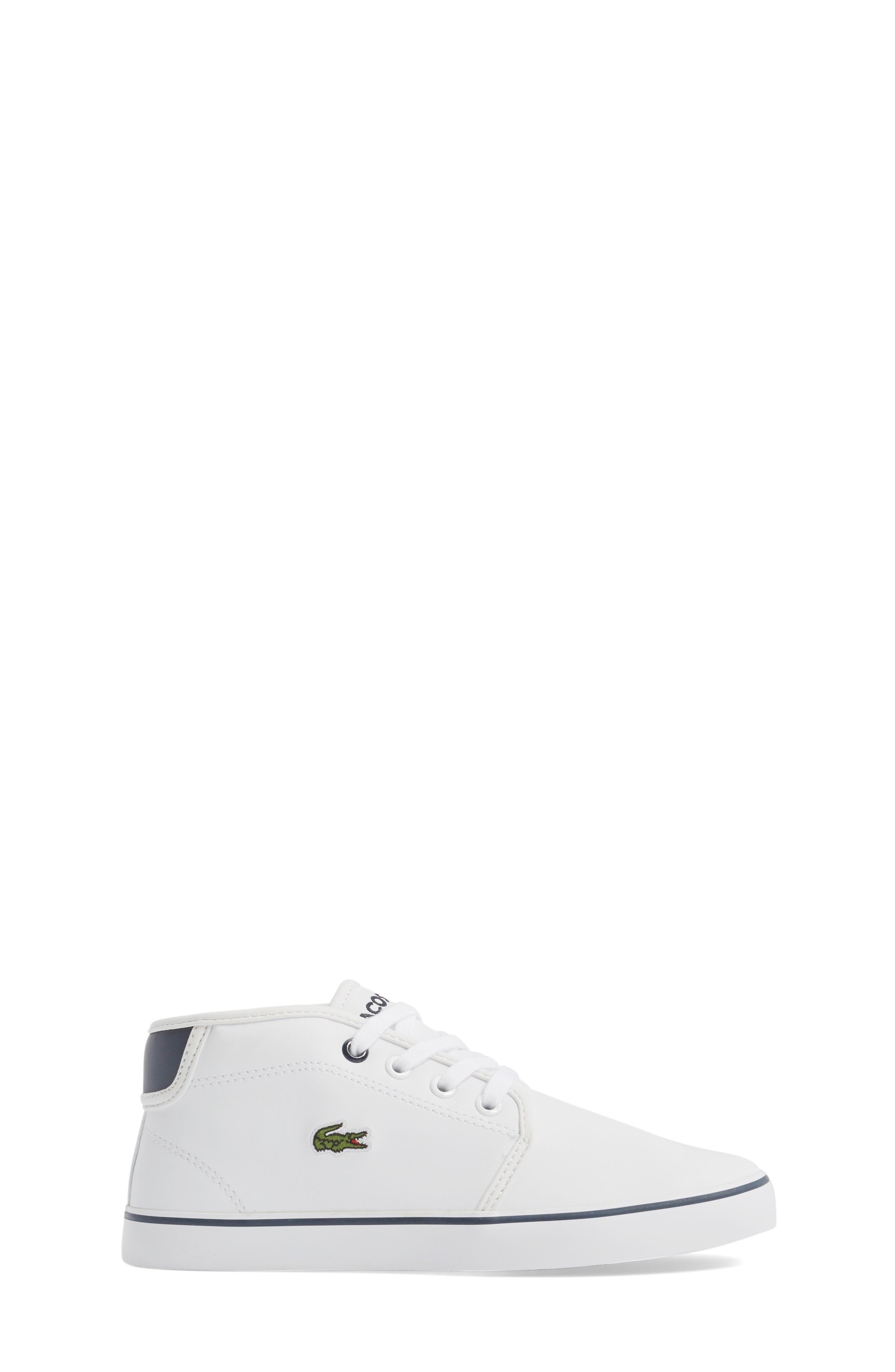 Ampthill High Top Sneaker,                             Alternate thumbnail 3, color,                             White/ Navy Faux Leather