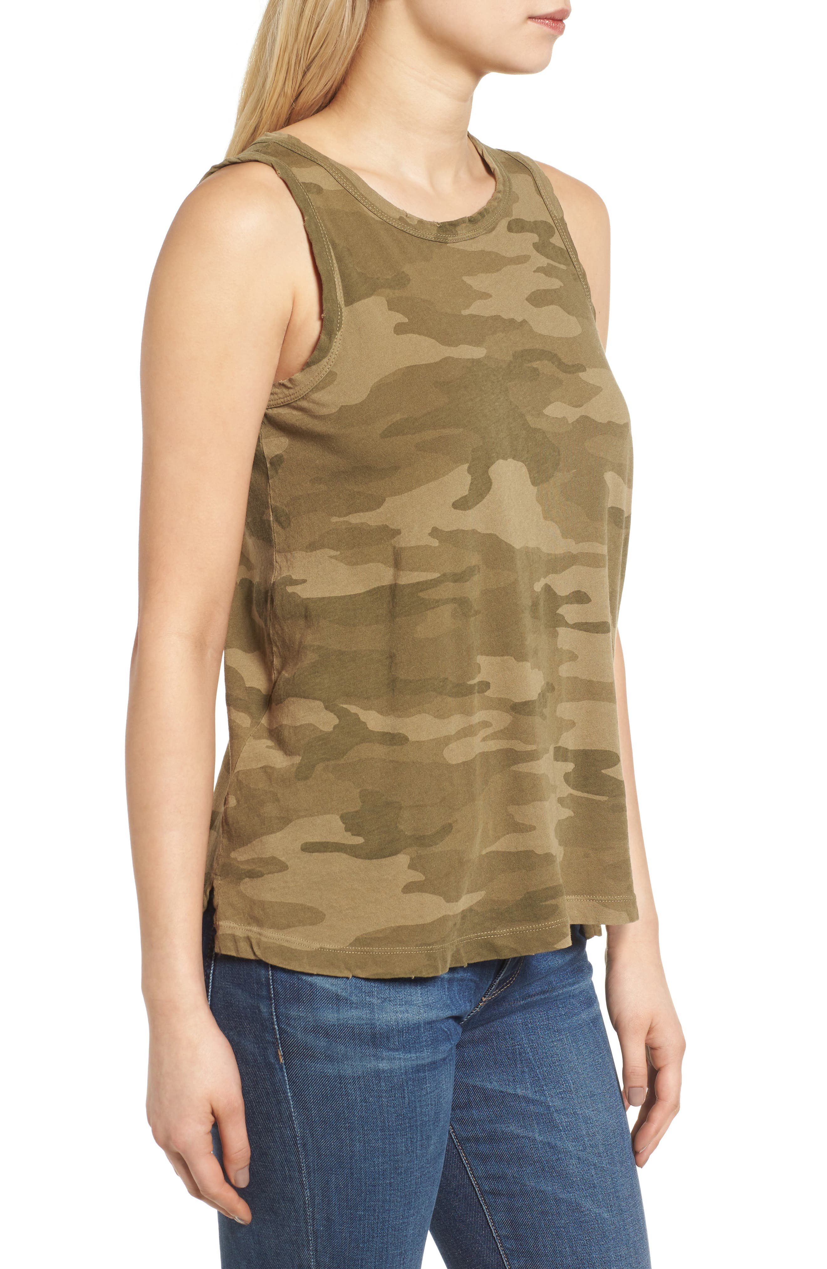 The Muscle Tee,                             Alternate thumbnail 3, color,                             Army Camo