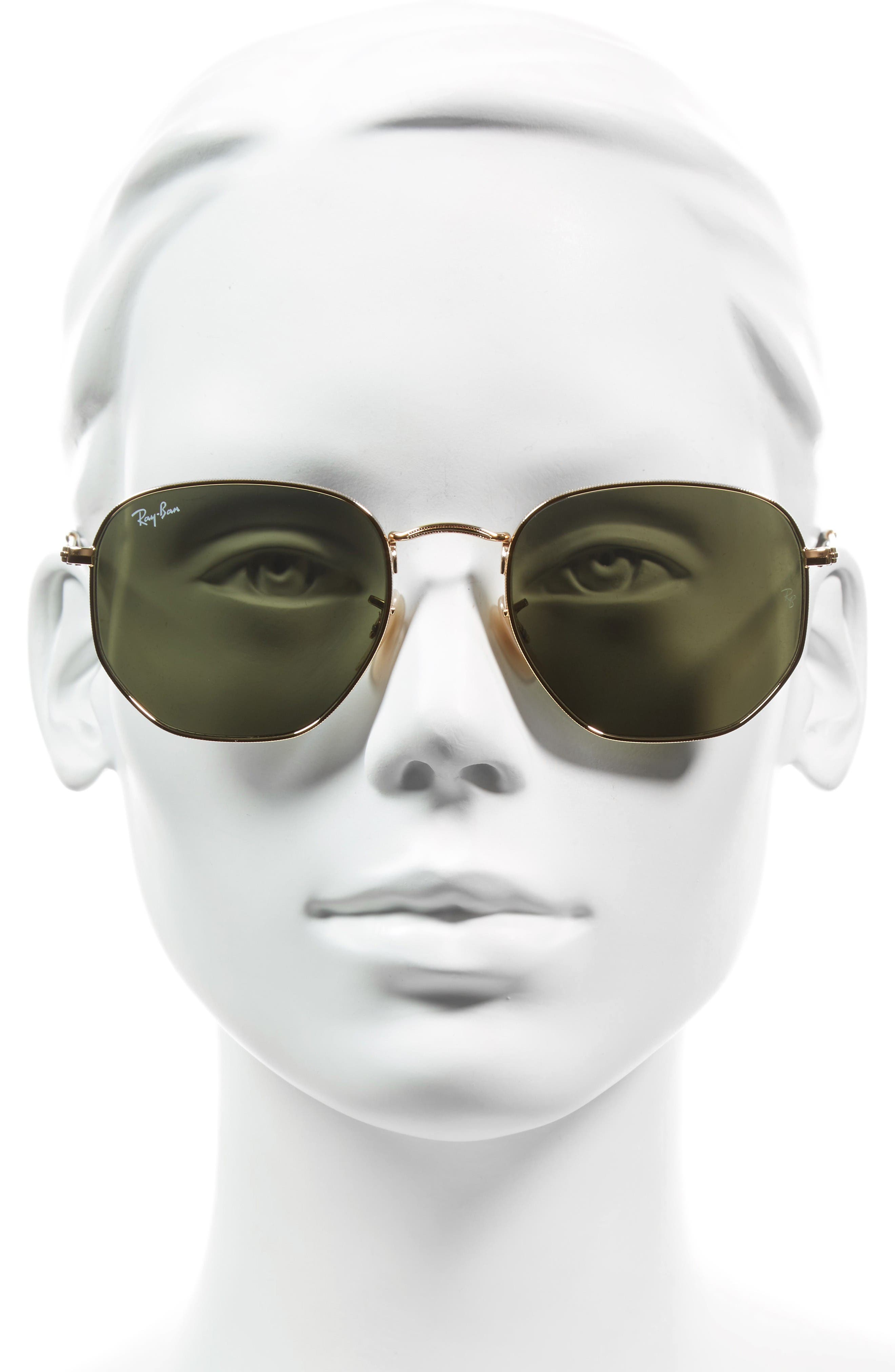 Alternate Image 2  - Ray-Ban 54mm Hexagonal Flat Lens Sunglasses