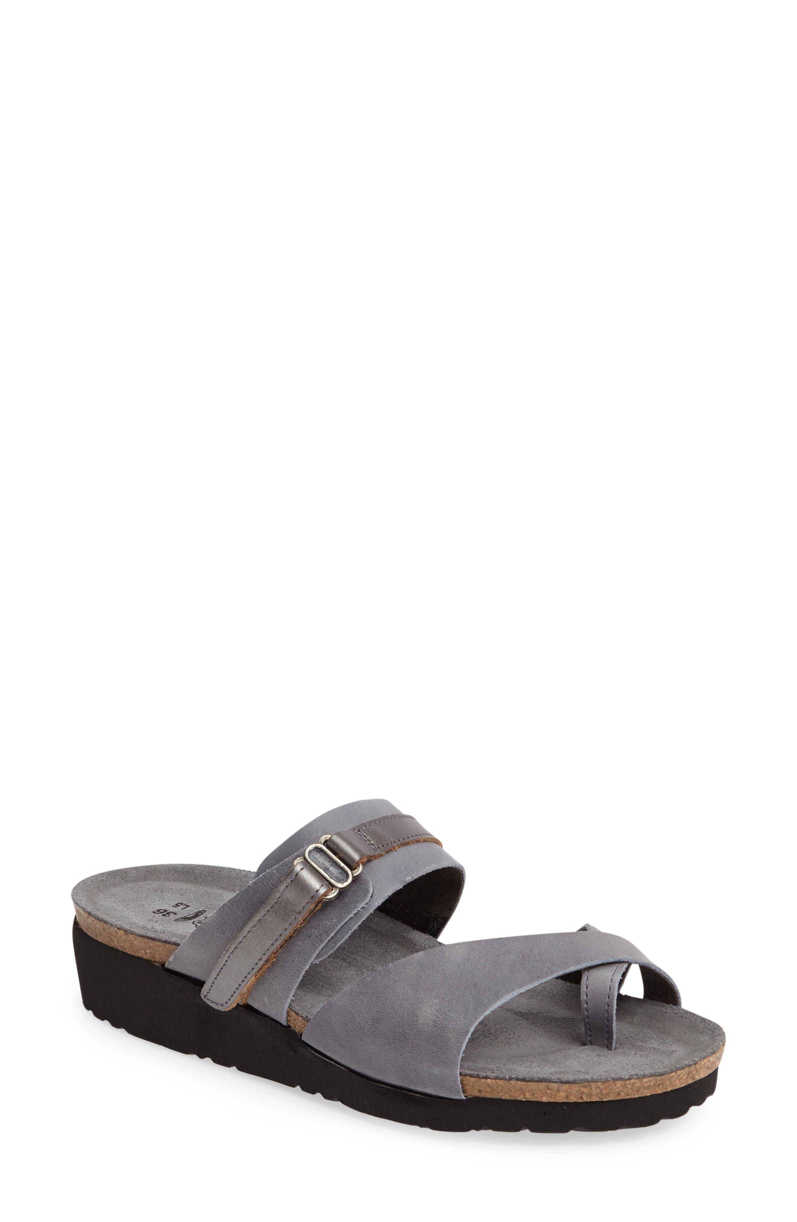 Jessica Sandal,                         Main,                         color, Vintage Slate Leather