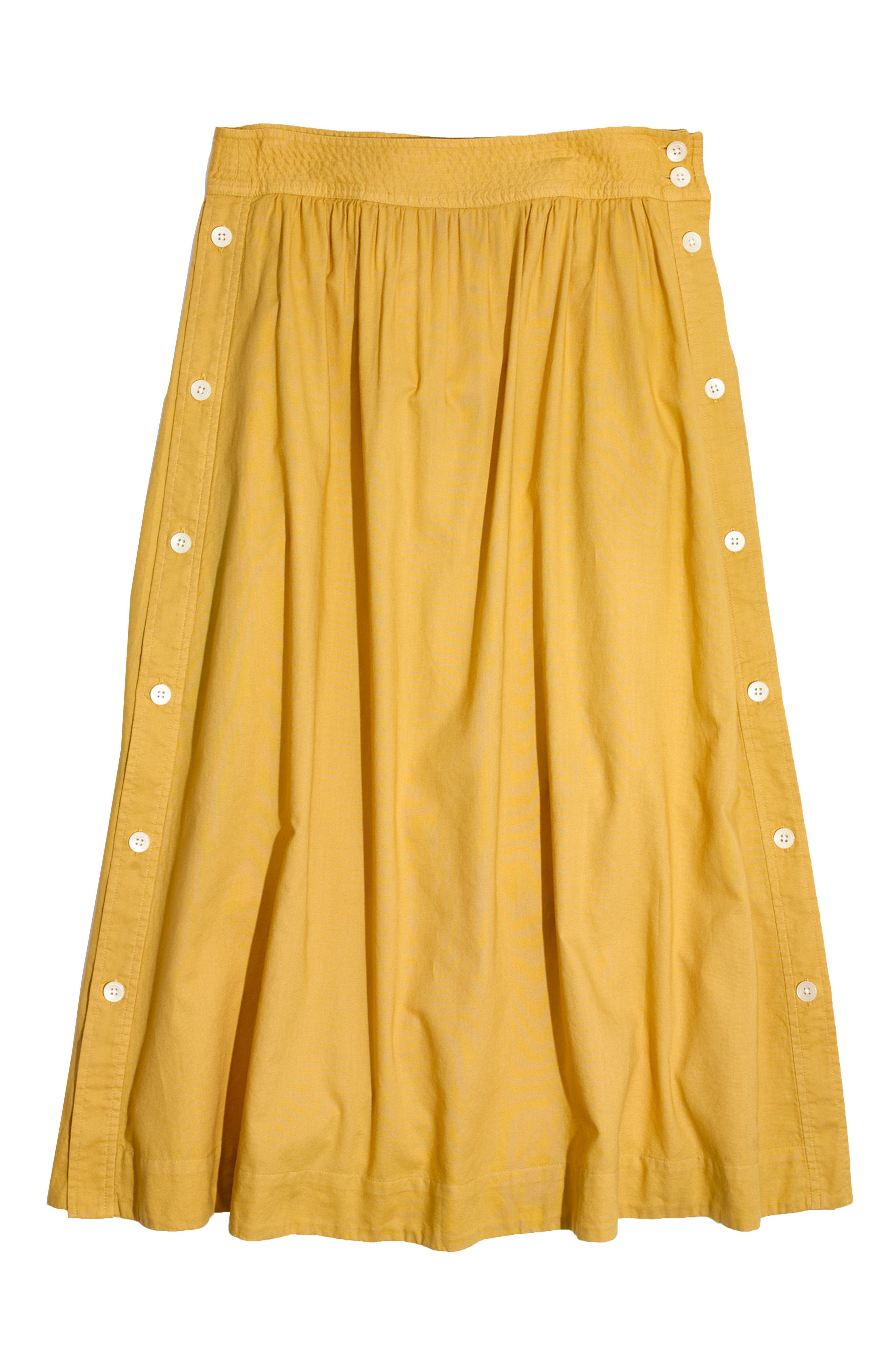 Alternate Image 5  - Madewell Side Button Midi Skirt