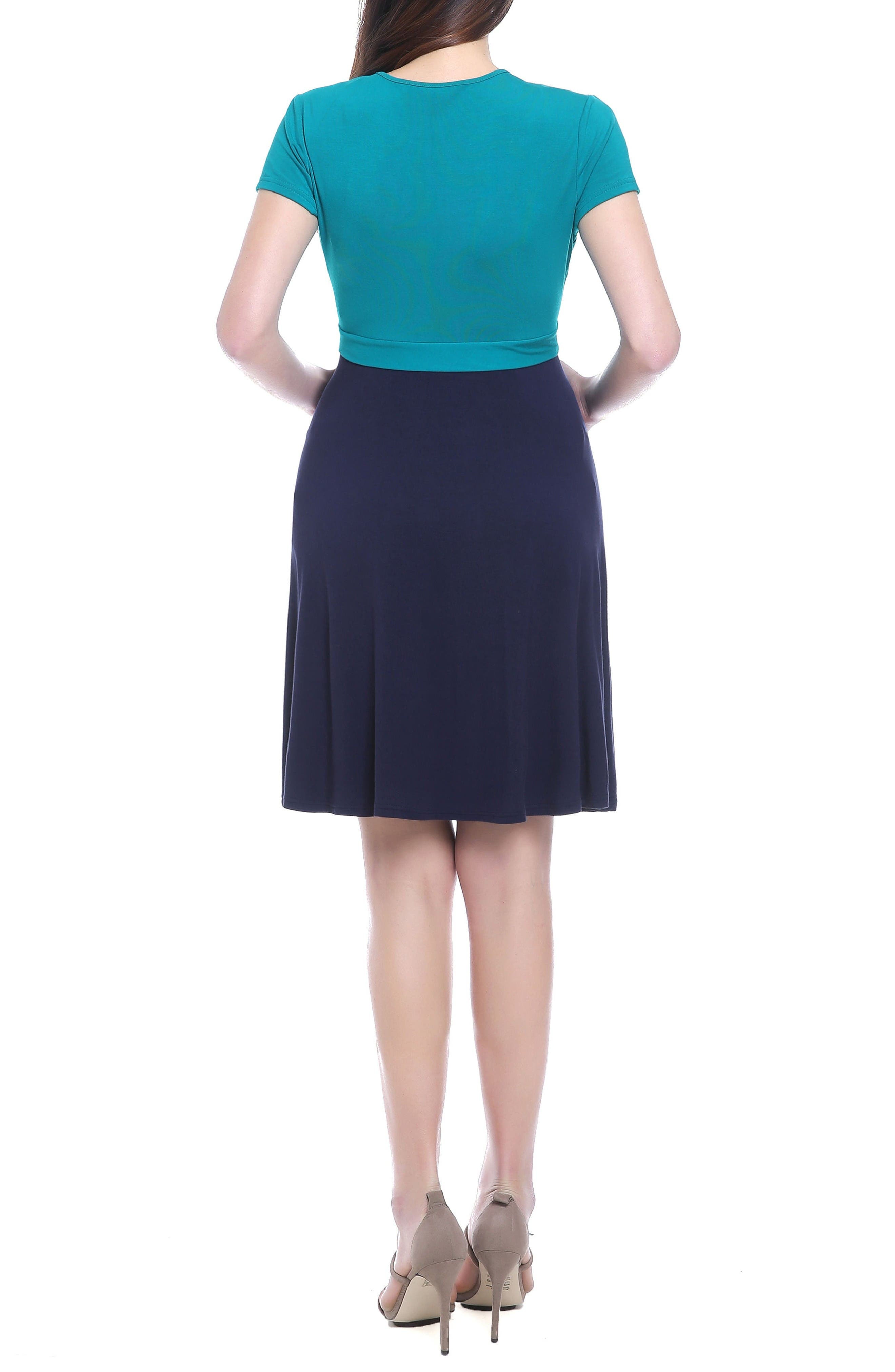 Alternate Image 2  - Kimi & Kai Sarah Faux Wrap Maternity/Nursing Dress