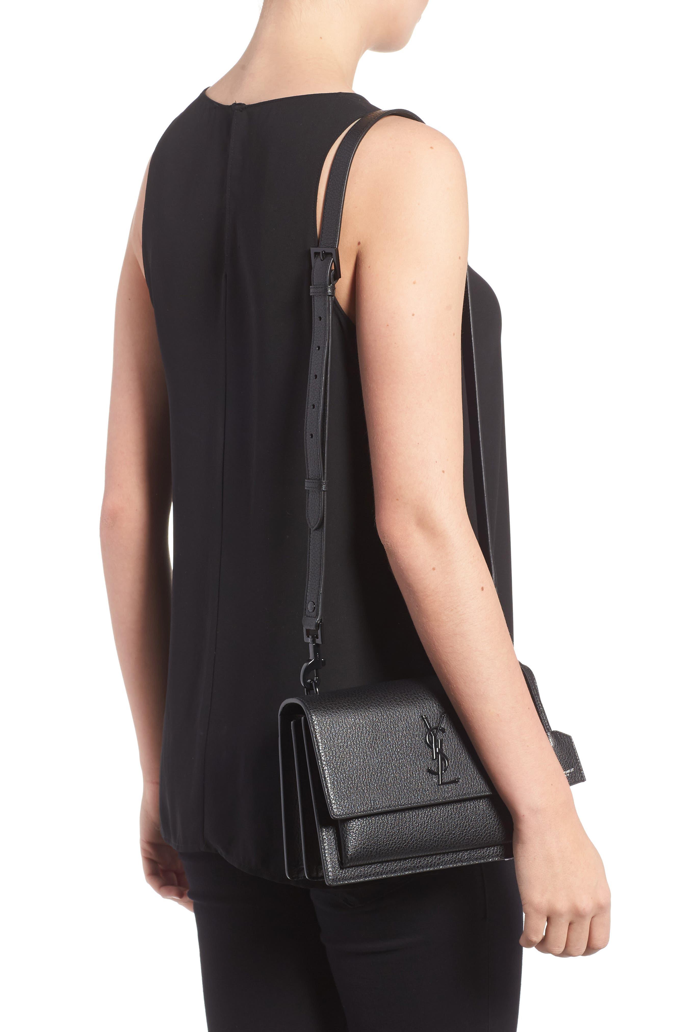 Alternate Image 2  - Saint Laurent Medium Sunset Leather Shoulder Bag