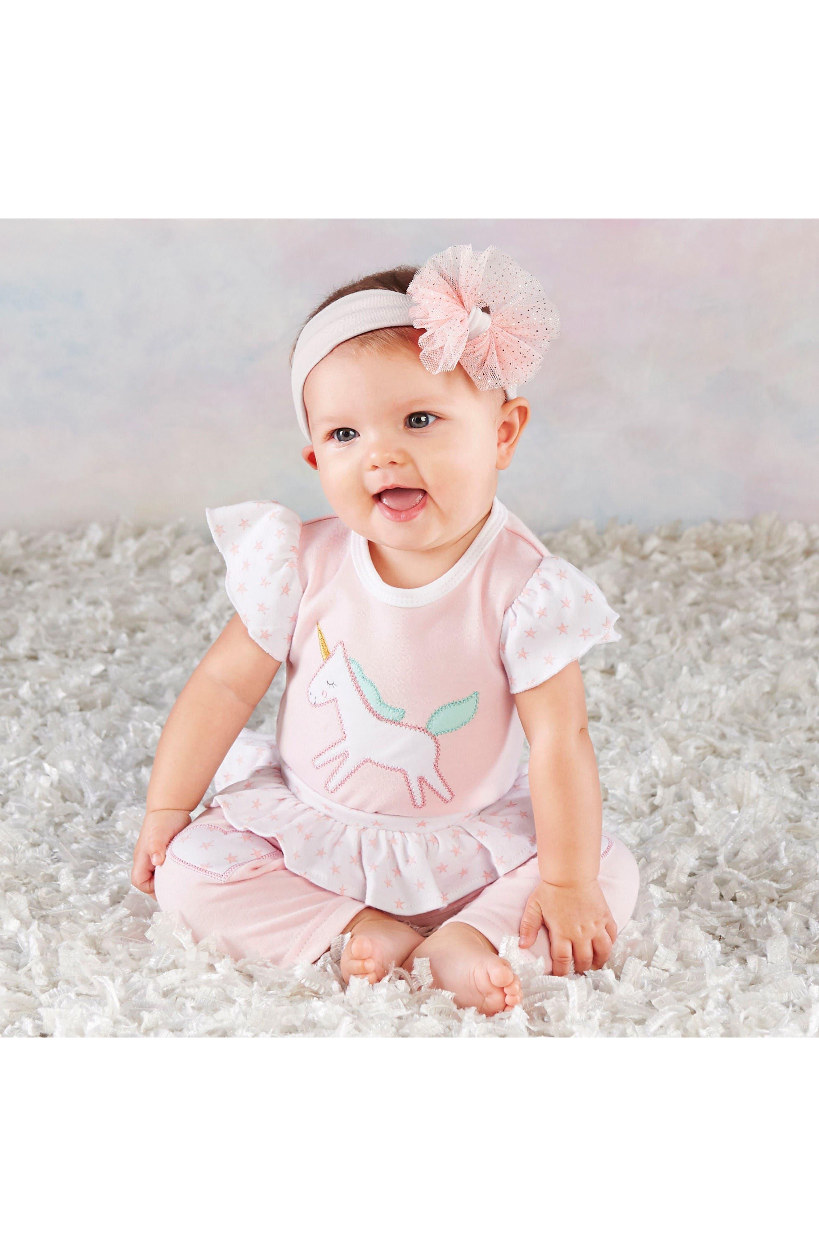 Alternate Image 2  - Baby Aspen Simply Enchanted Unicorn Spa 4-Piece Gift Set (Baby Girls)