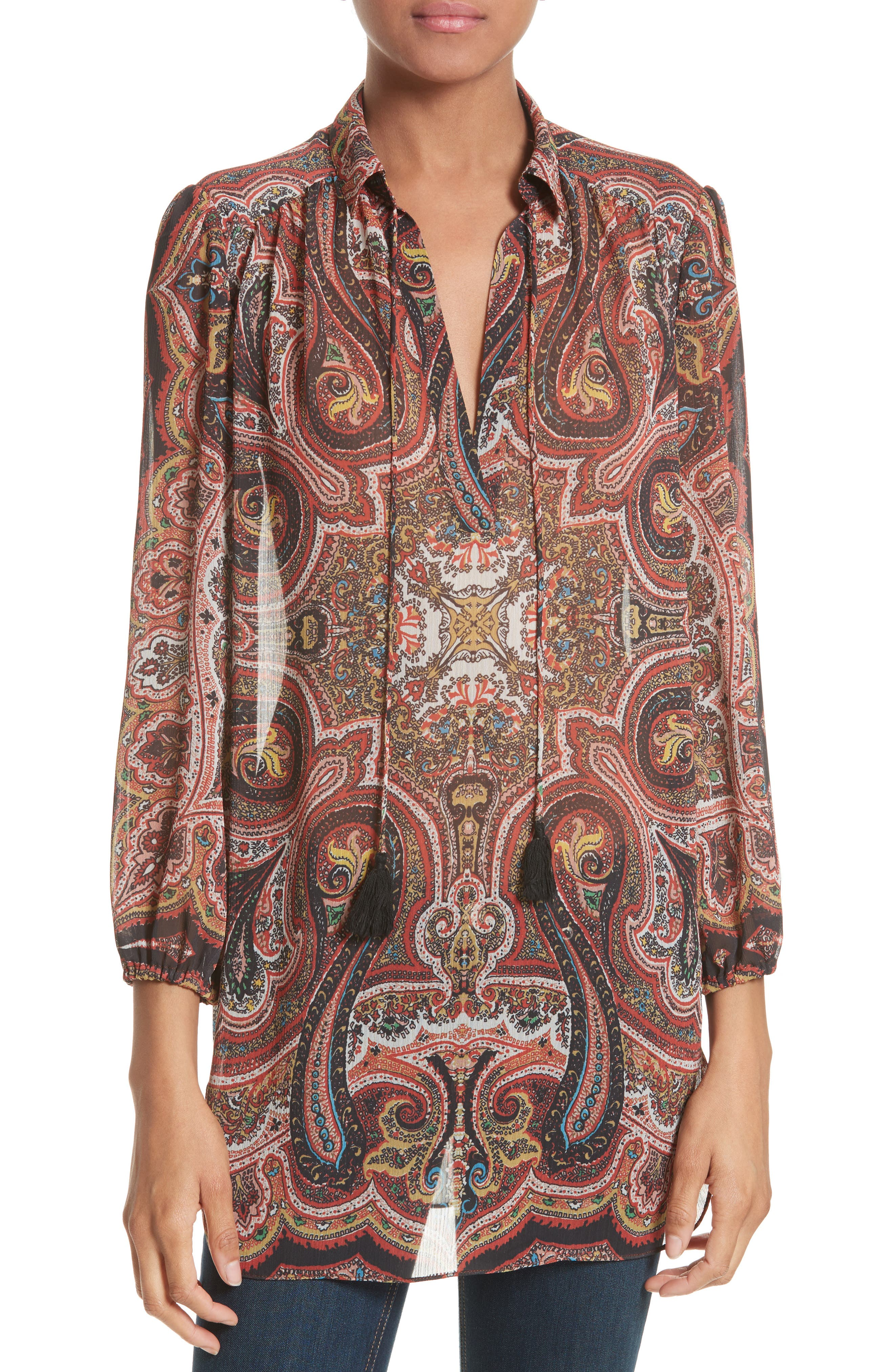 Sterling Tunic,                         Main,                         color, Paisley Scarf