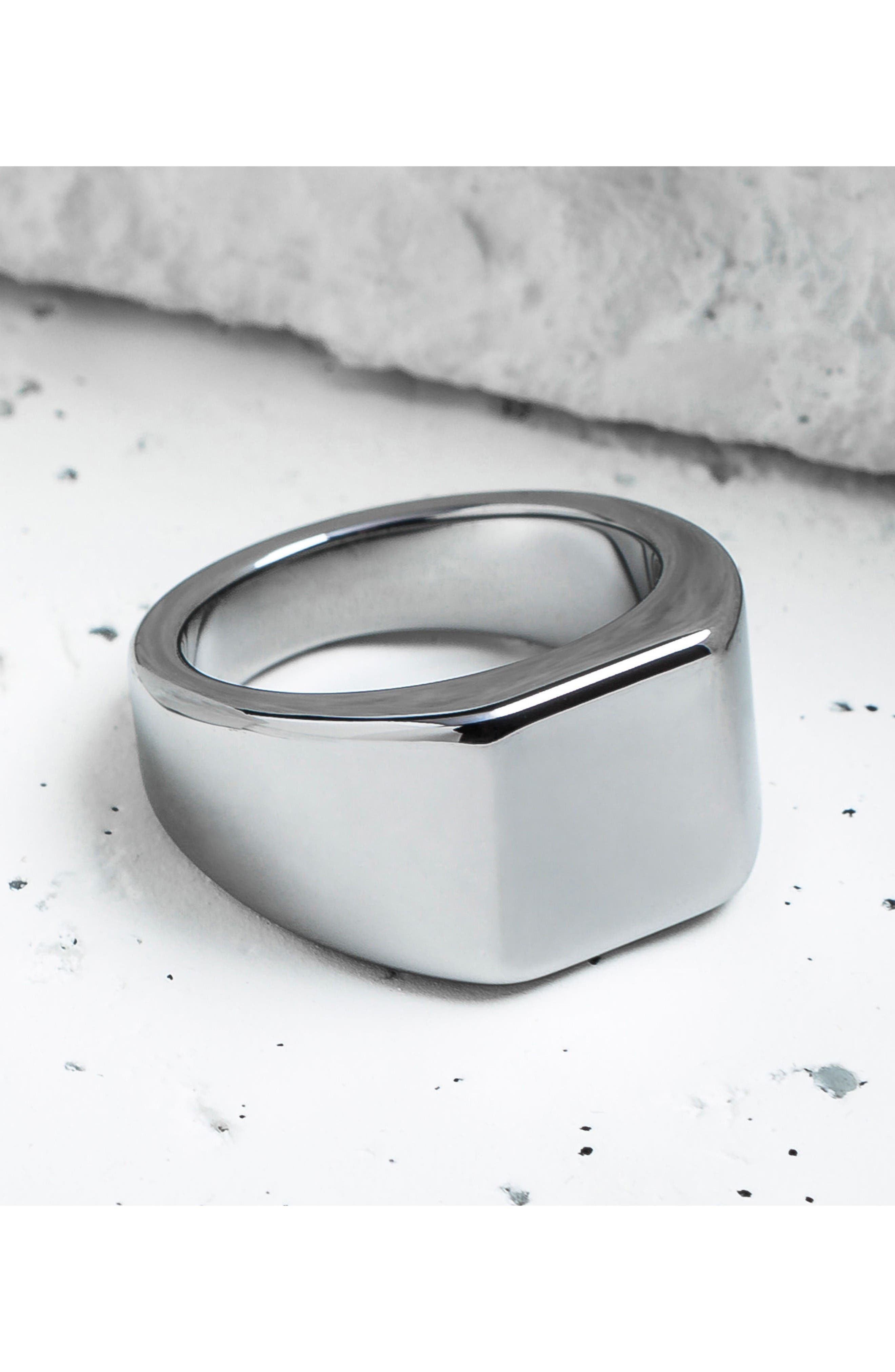 Lourd Square Ring,                             Alternate thumbnail 4, color,                             Tungsten