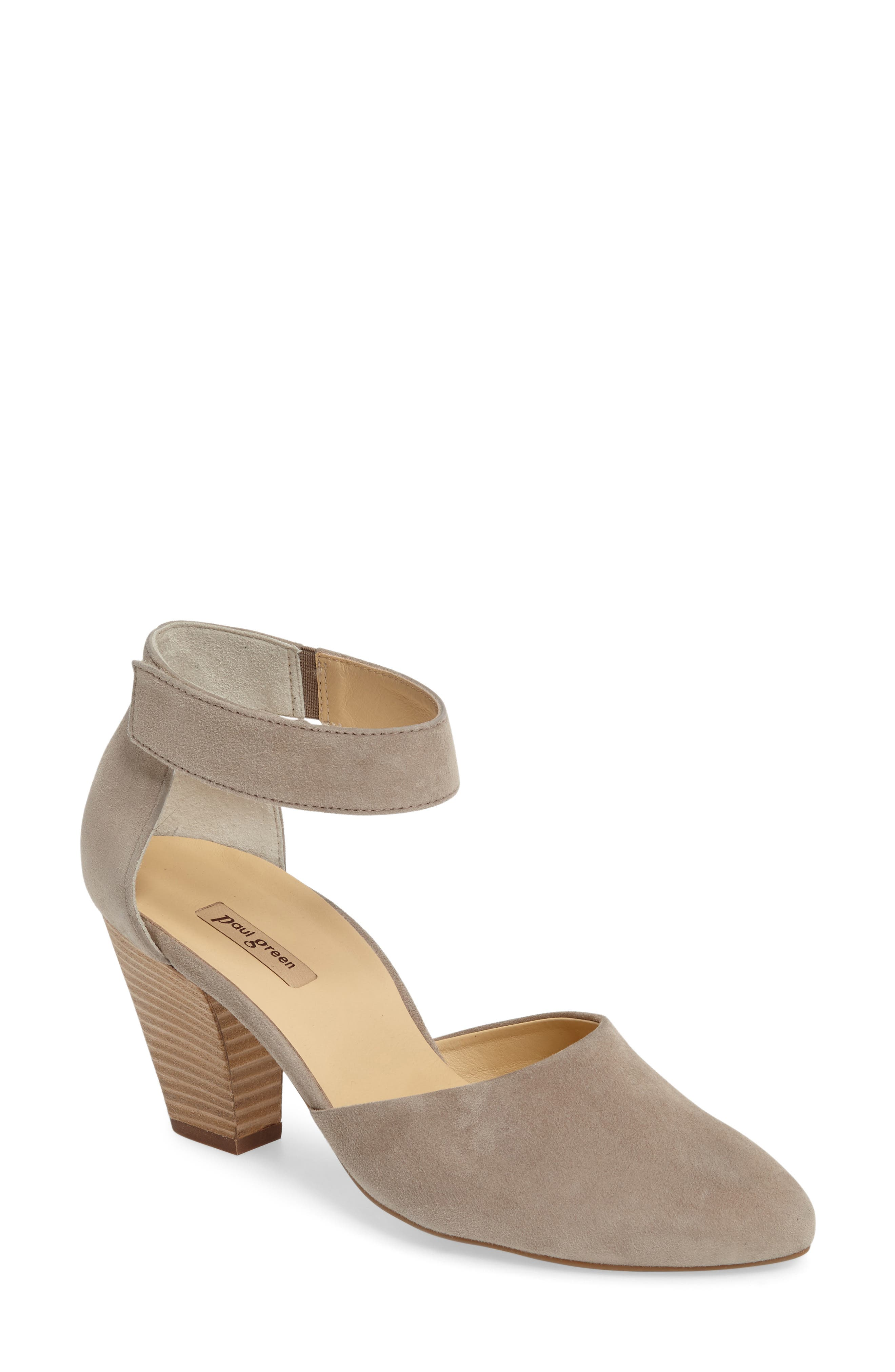 Noreen Pump,                             Main thumbnail 1, color,                             Taupe Suede