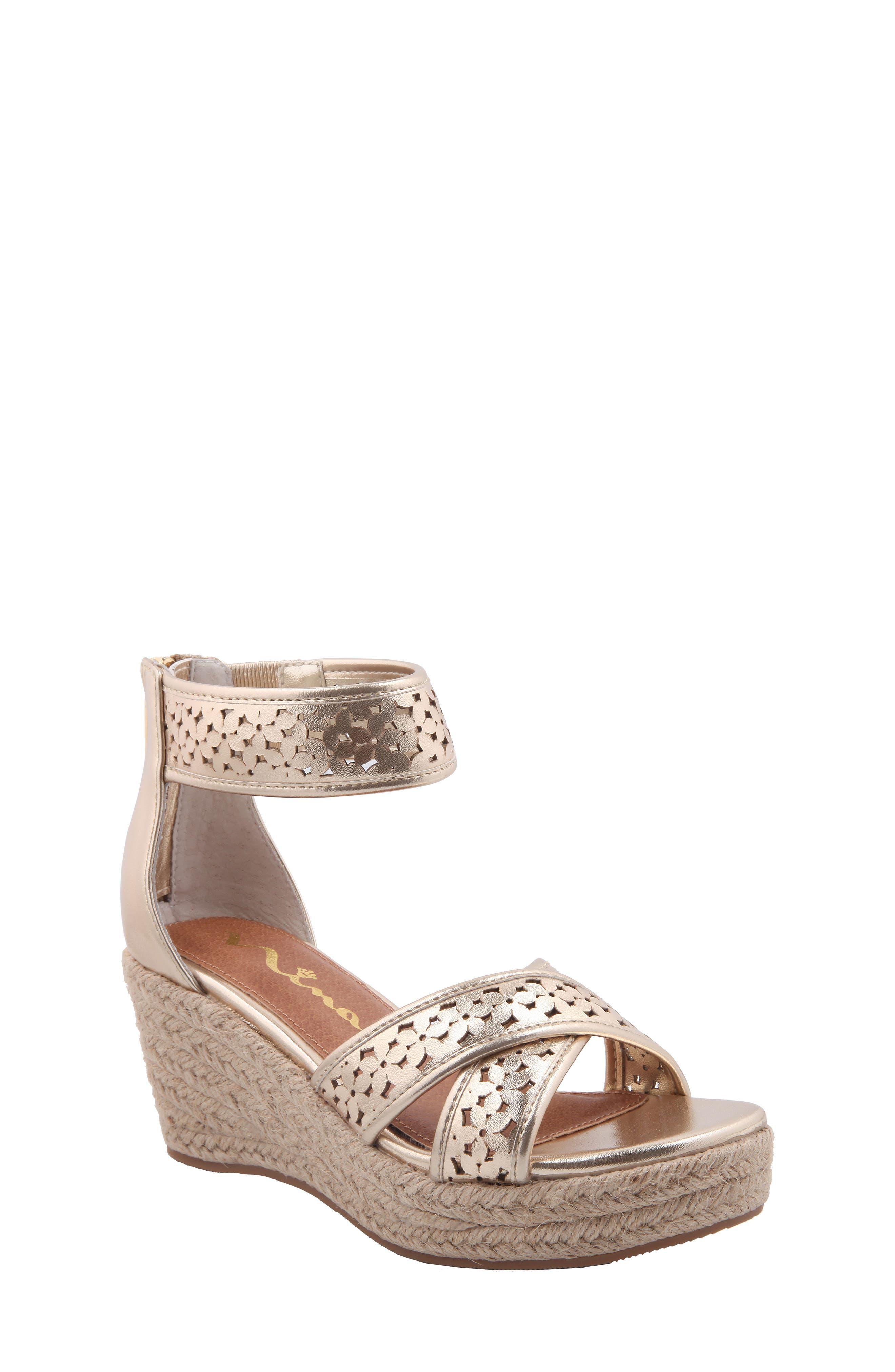 NINA Chicory Perforated Platform Sandal