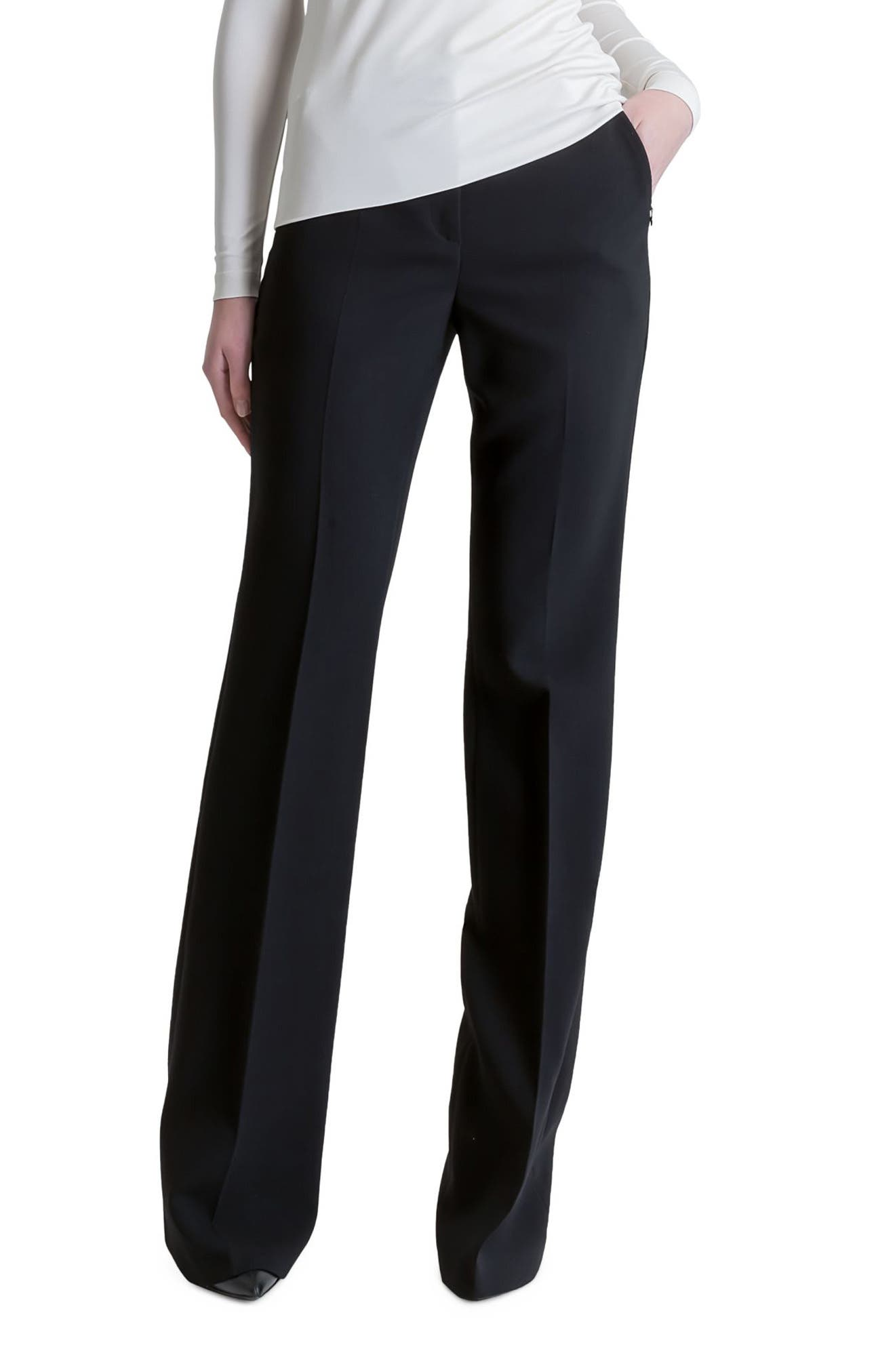 Alternate Image 3  - Akris Farrah Stretch Wool Flare Pants