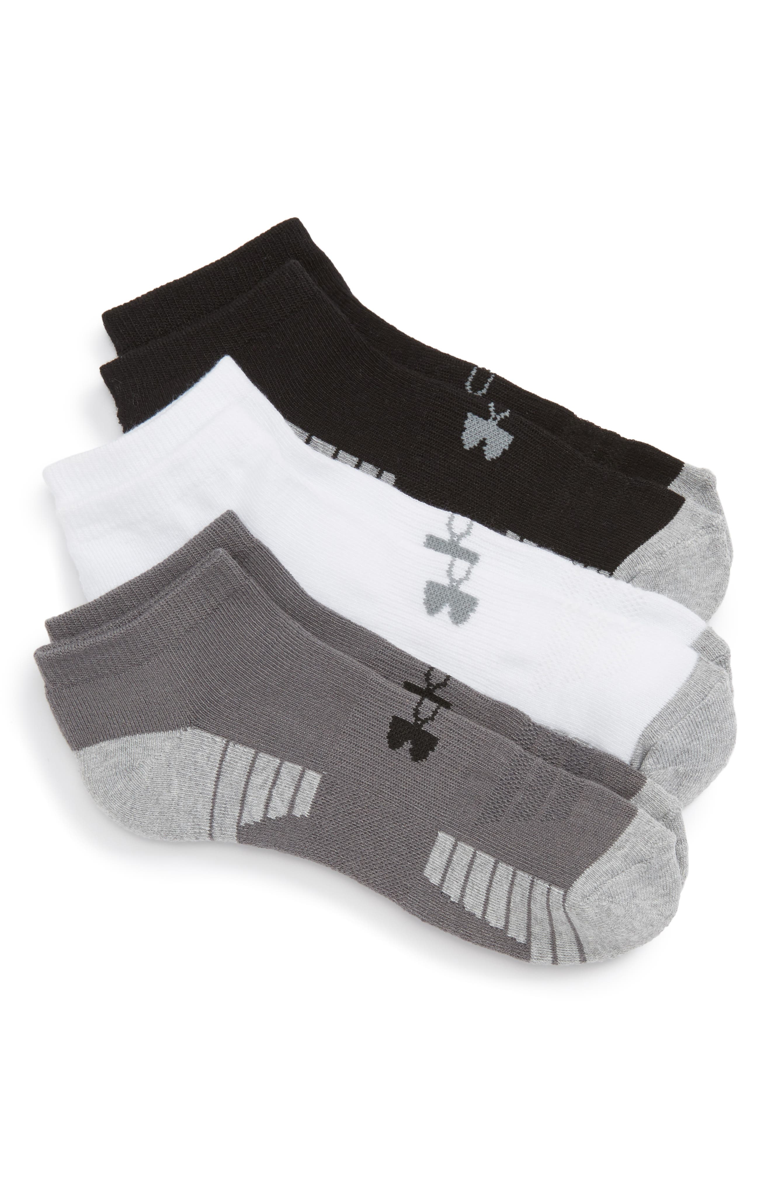 Under Armour HeatGear 3-Pack No-Show Socks