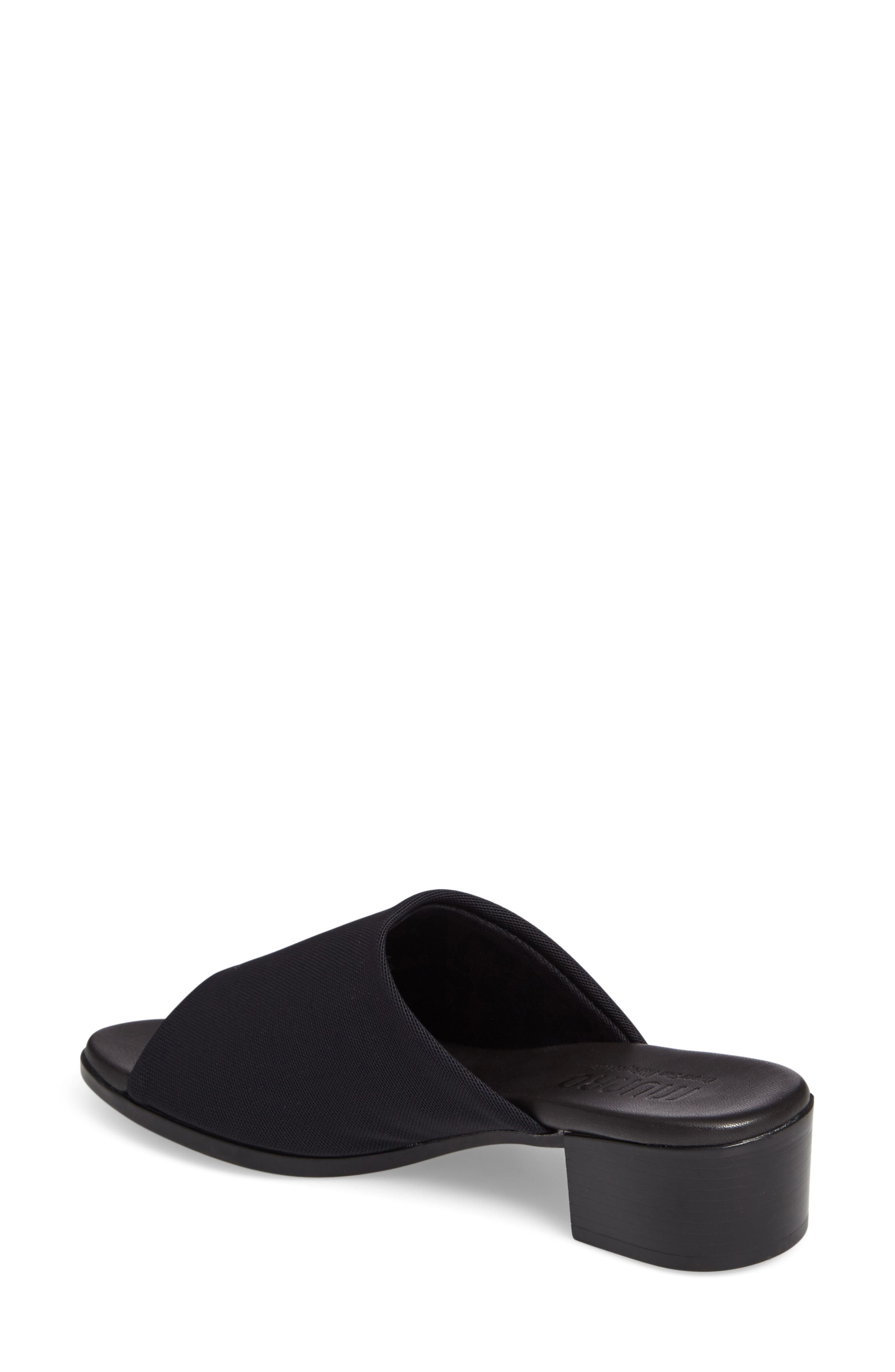 Beth Slide Sandal,                             Alternate thumbnail 2, color,                             Black Fabric