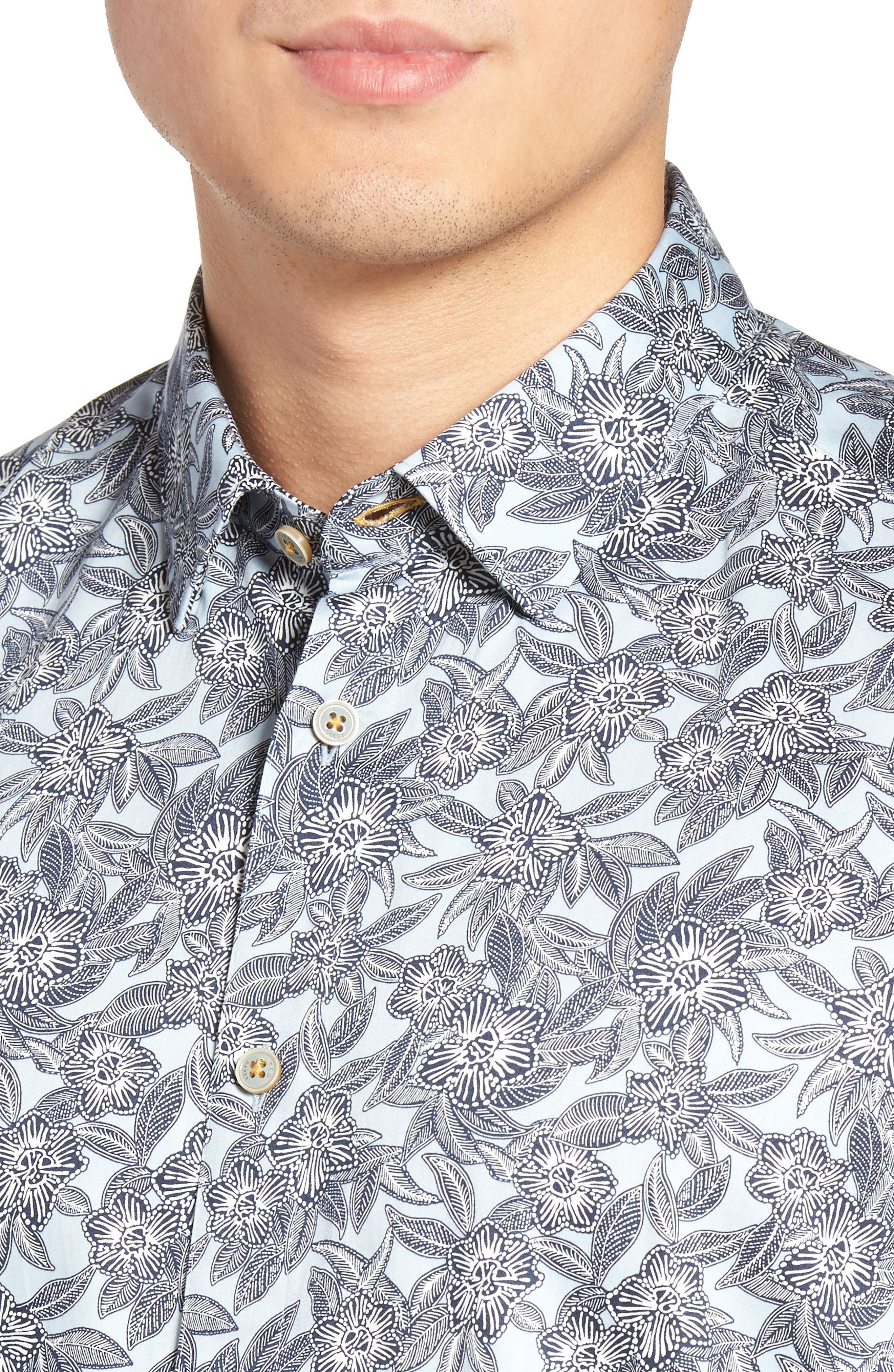 Alternate Image 4  - Ted Baker London Kryko Extra Slim Fit Print Sport Shirt