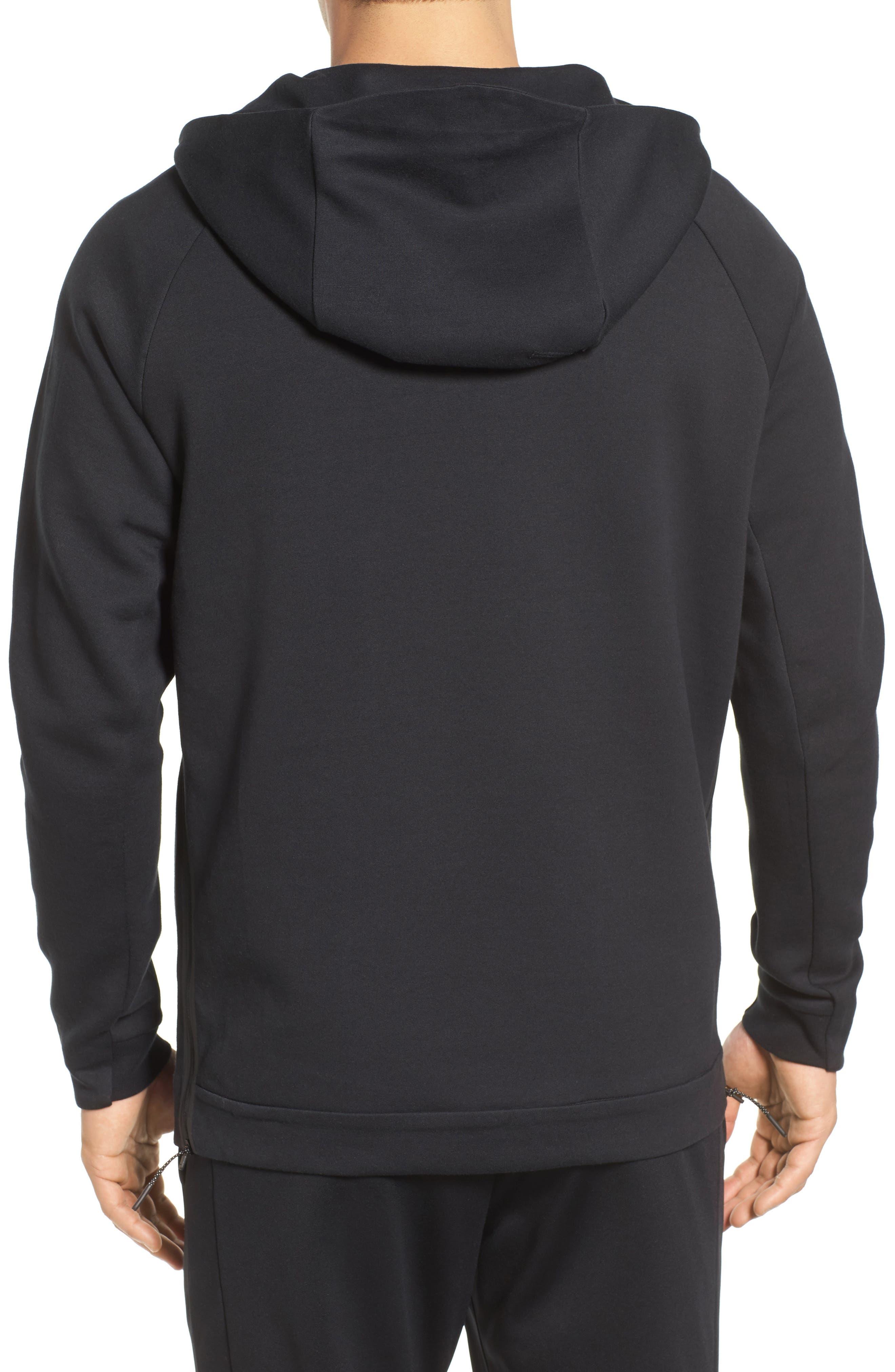 Half-Zip Pullover Hoodie,                             Alternate thumbnail 2, color,                             Black/ Black/ Black