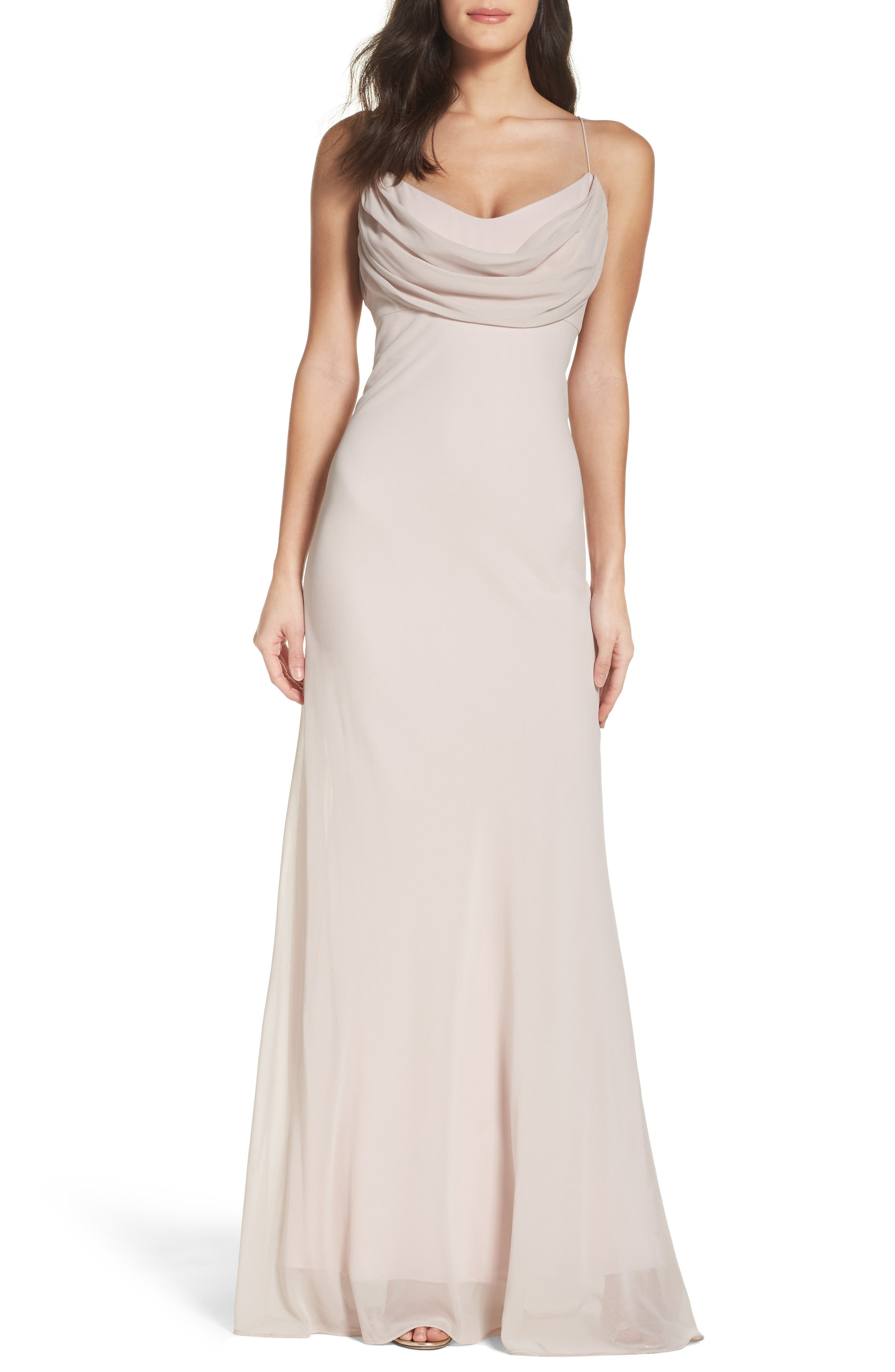 Alternate Image 1 Selected - Katie May Eden Chiffon Gown