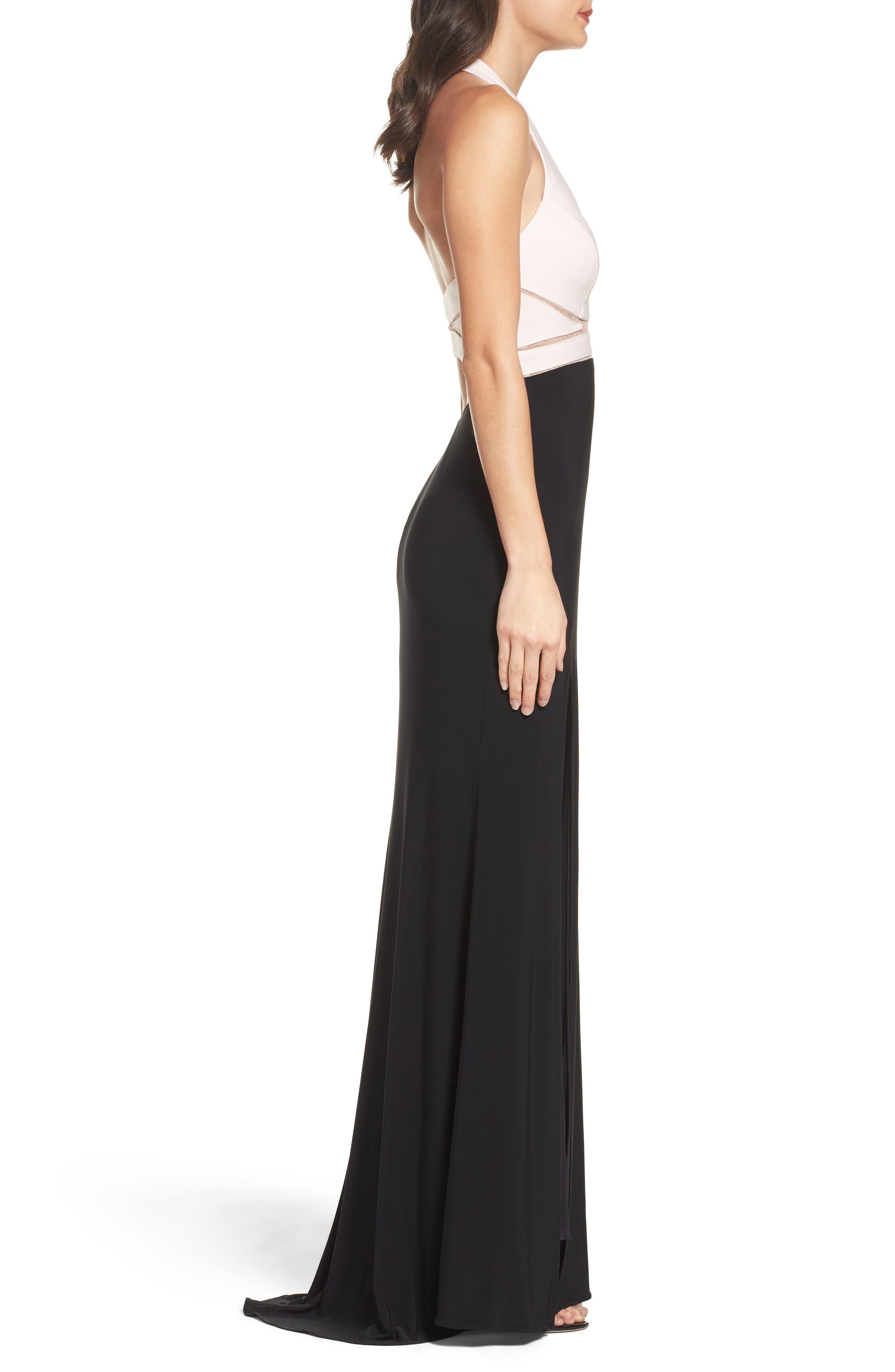 Alternate Image 3  - Xscape Halter Gown