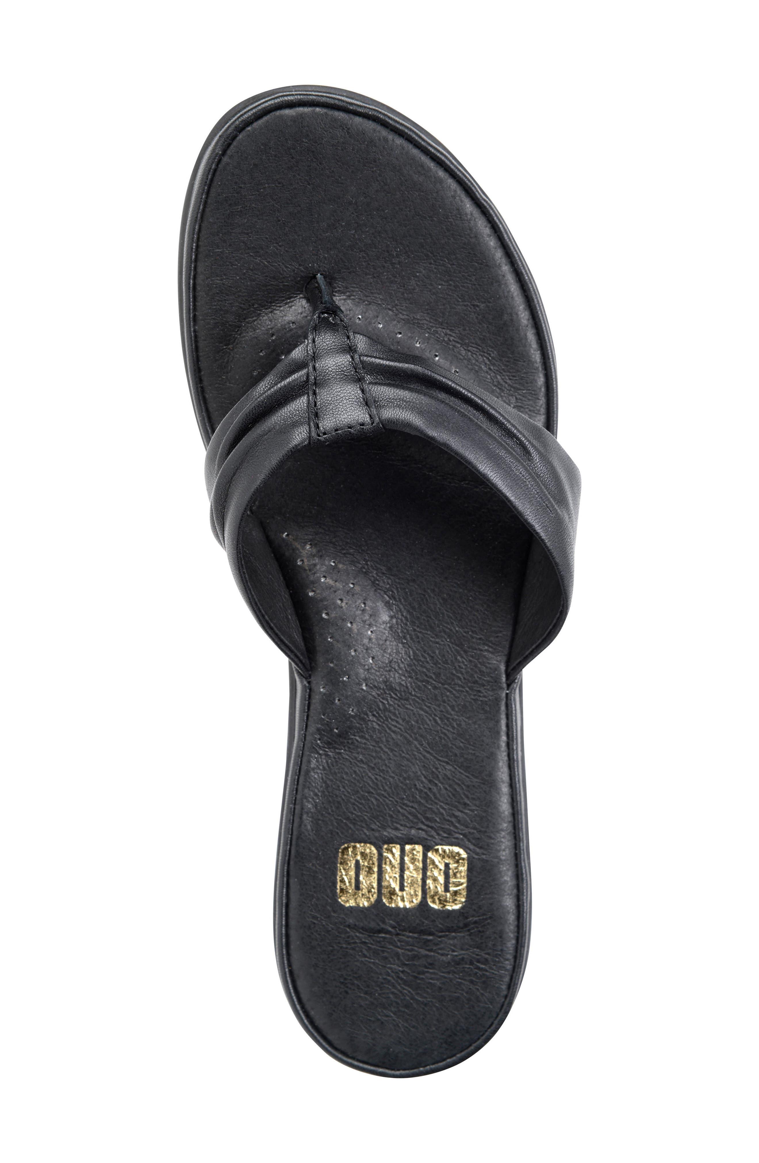 Liv Flip Flop,                             Alternate thumbnail 3, color,                             Black Leather