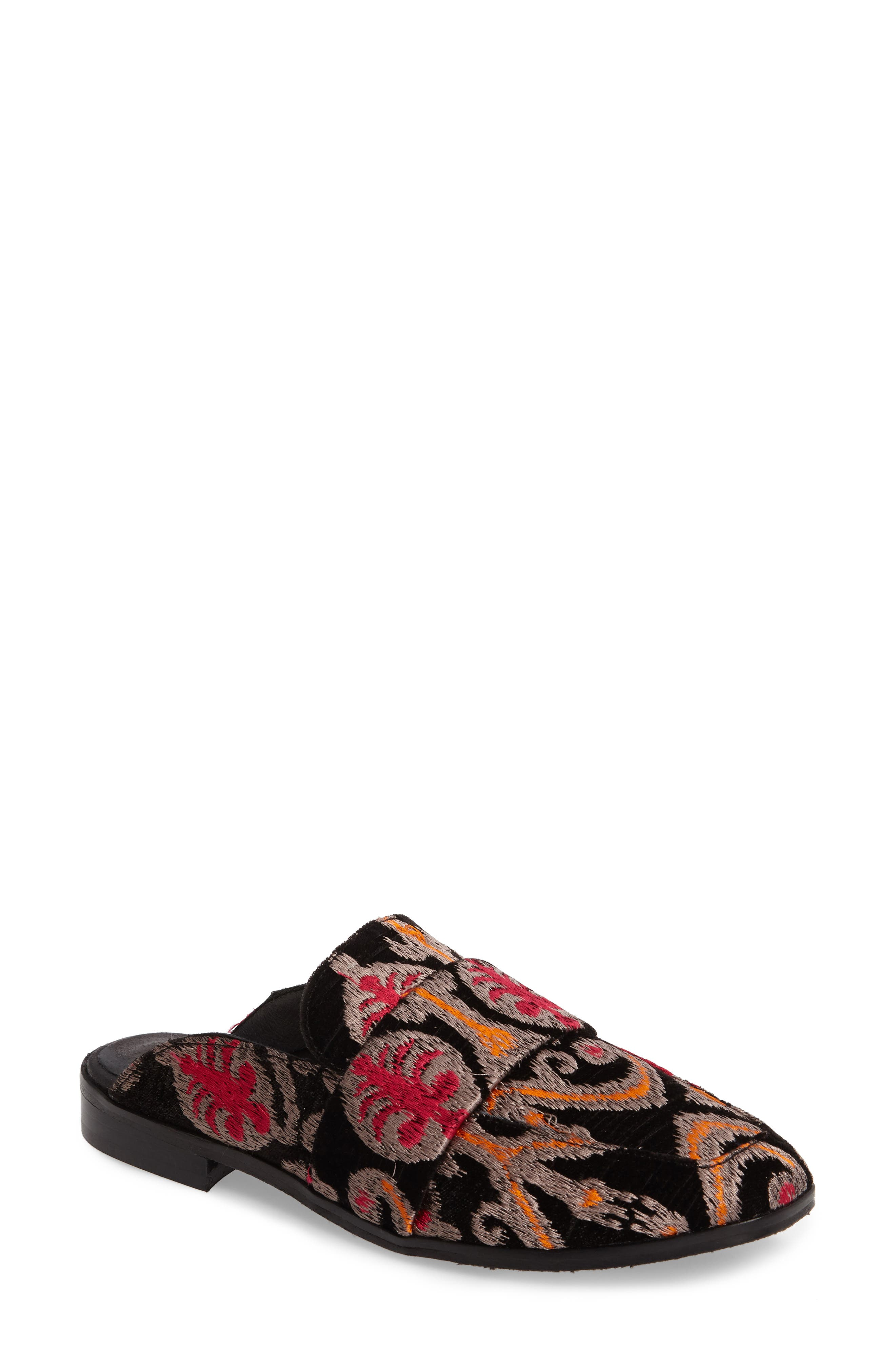At Ease Loafer,                             Main thumbnail 1, color,                             Black Combo Fabric
