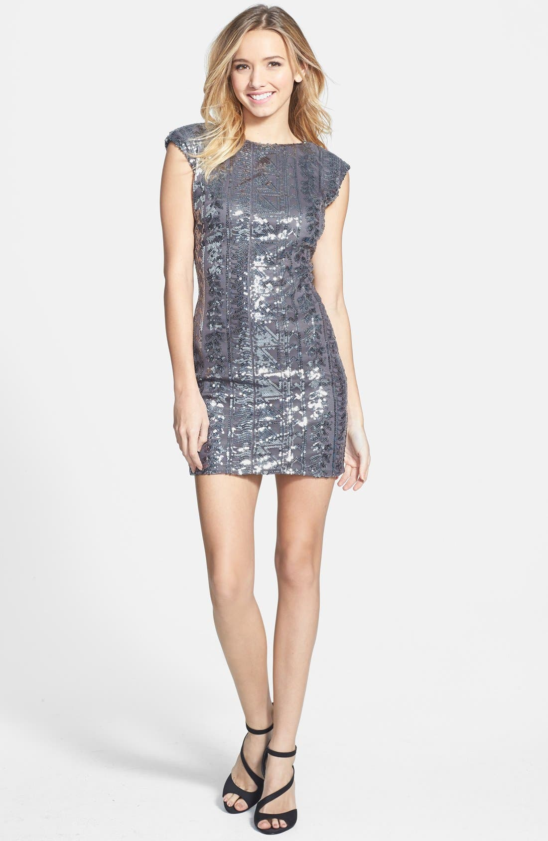 Alternate Image 1 Selected - As U Wish Sequin Body-Con Dress