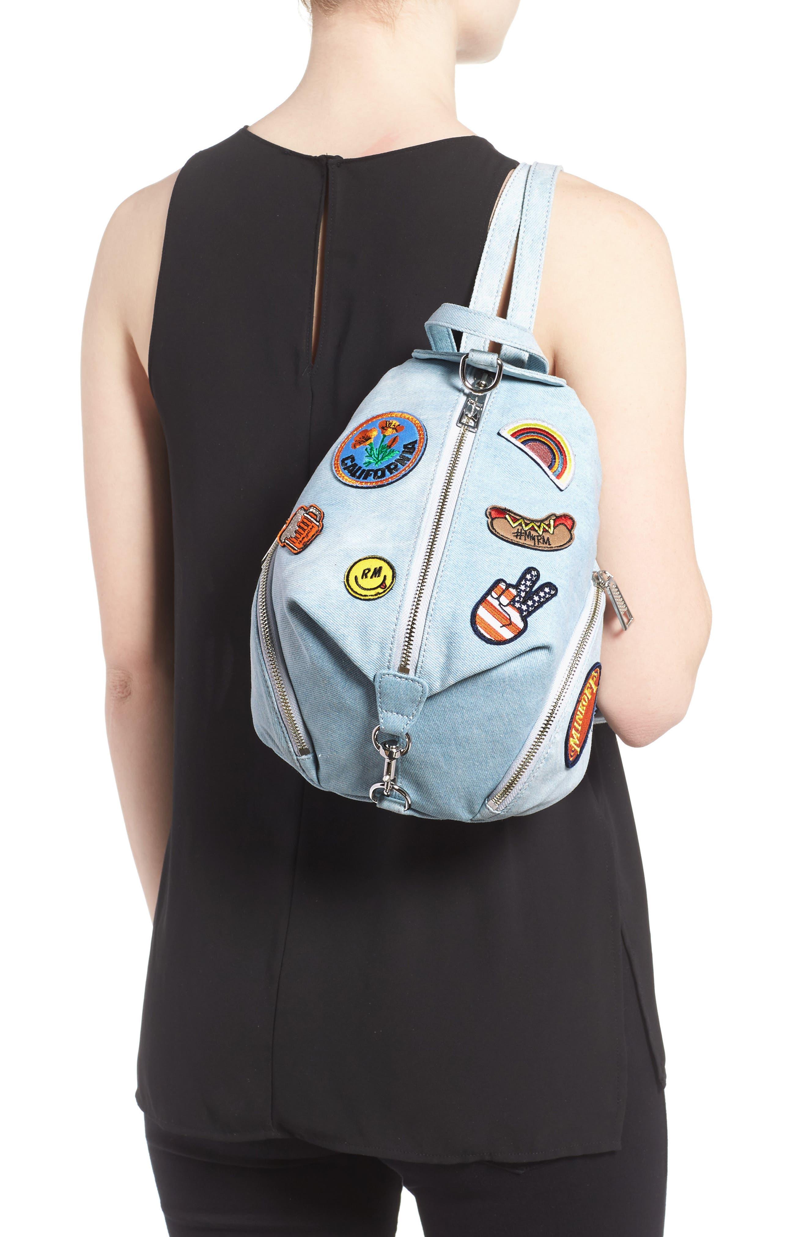 Alternate Image 2  - Rebecca Minkoff Medium Julian Patchwork Backpack