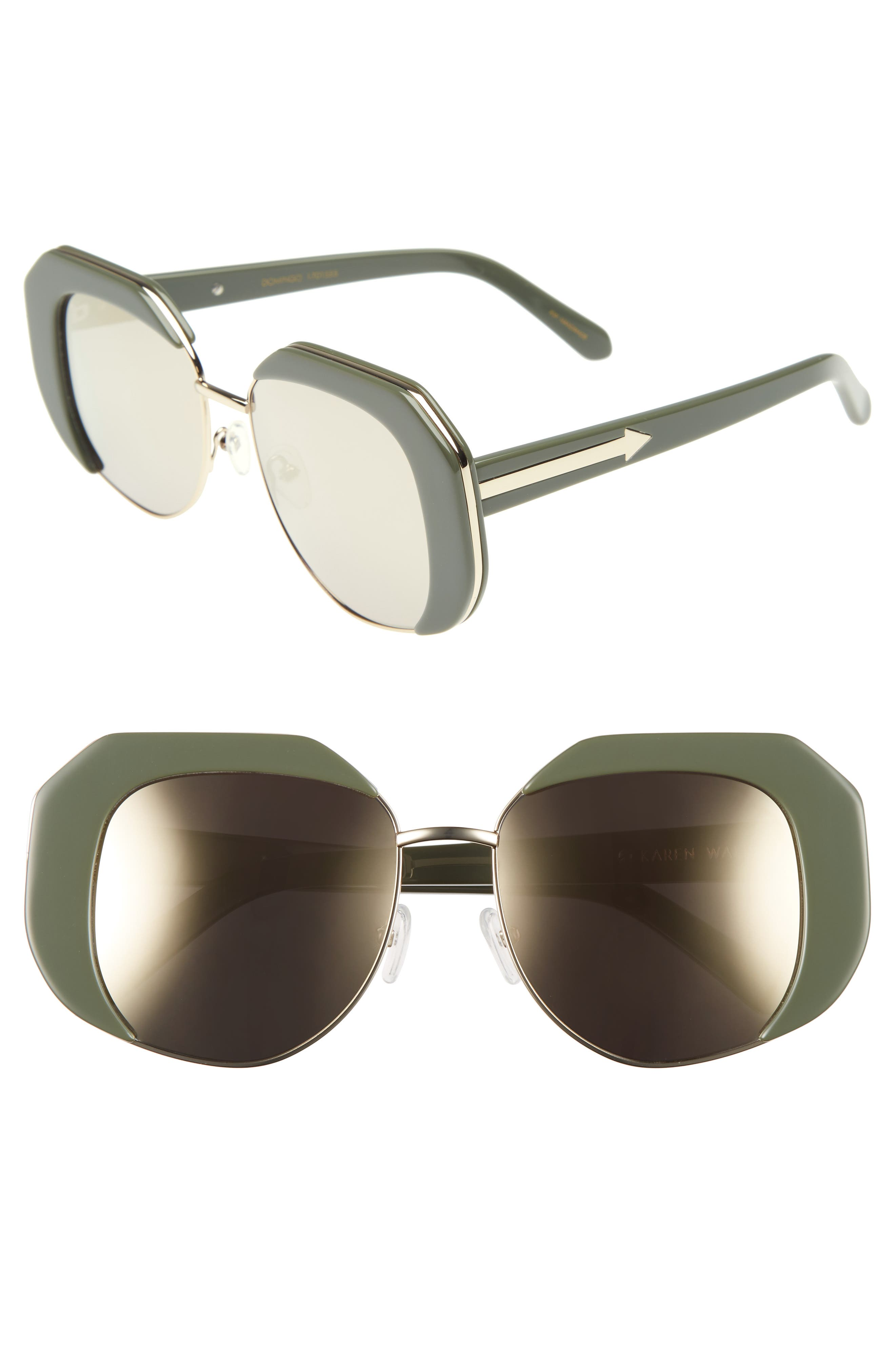 KAREN WALKER Domingo 52mm Sunglasses