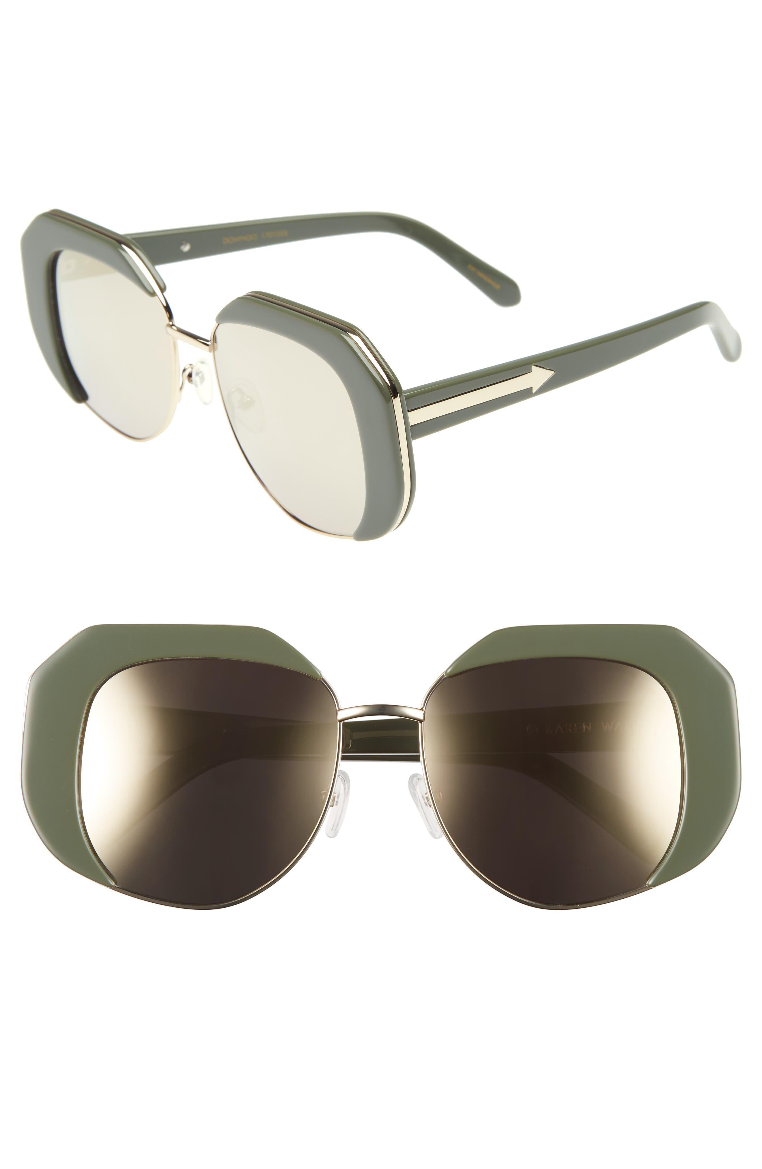 Domingo 52mm Sunglasses,                             Main thumbnail 1, color,                             Khaki/ Gold