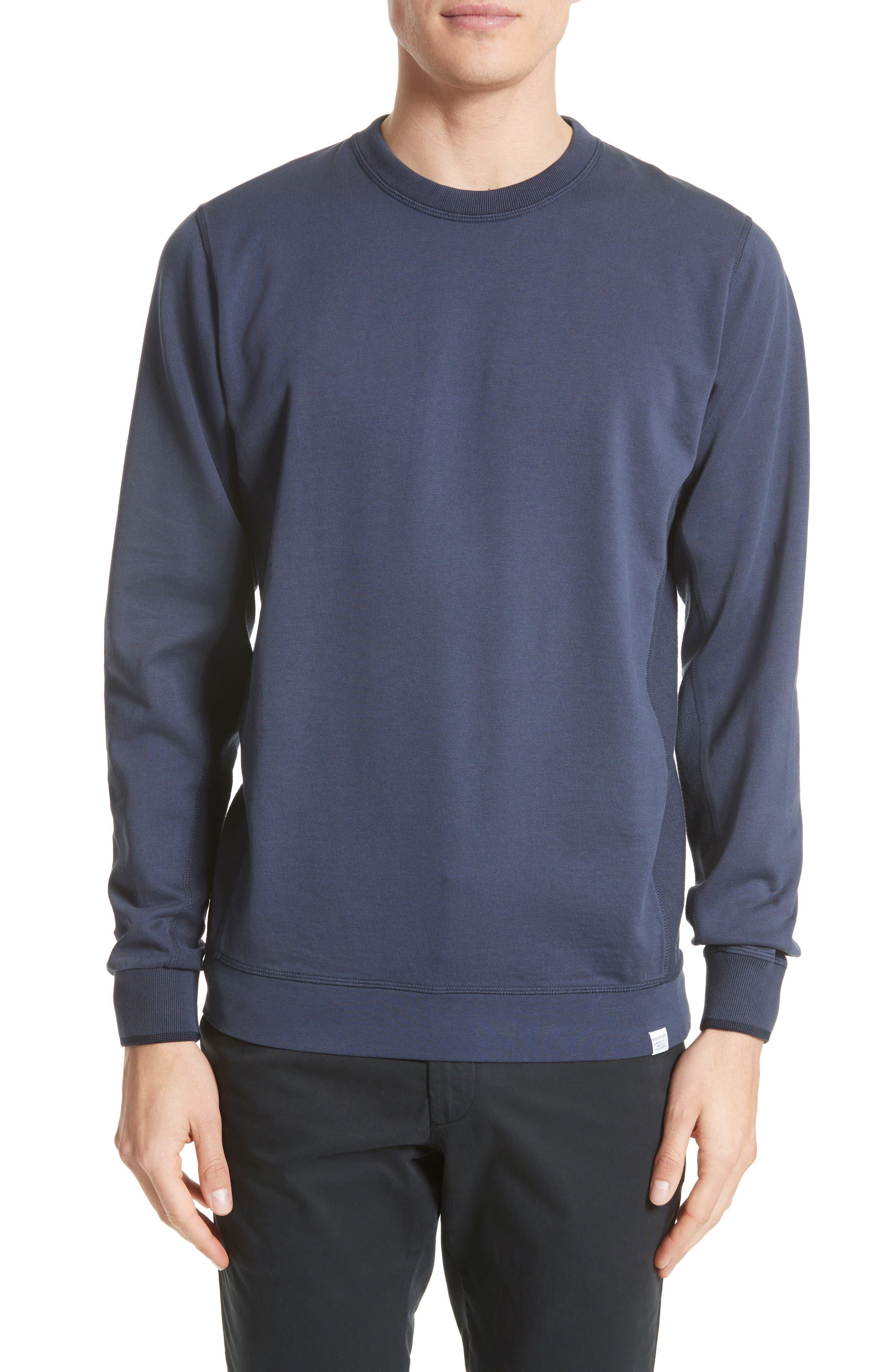 Vagn Mercerized Fleece Sweatshirt,                         Main,                         color, Navy
