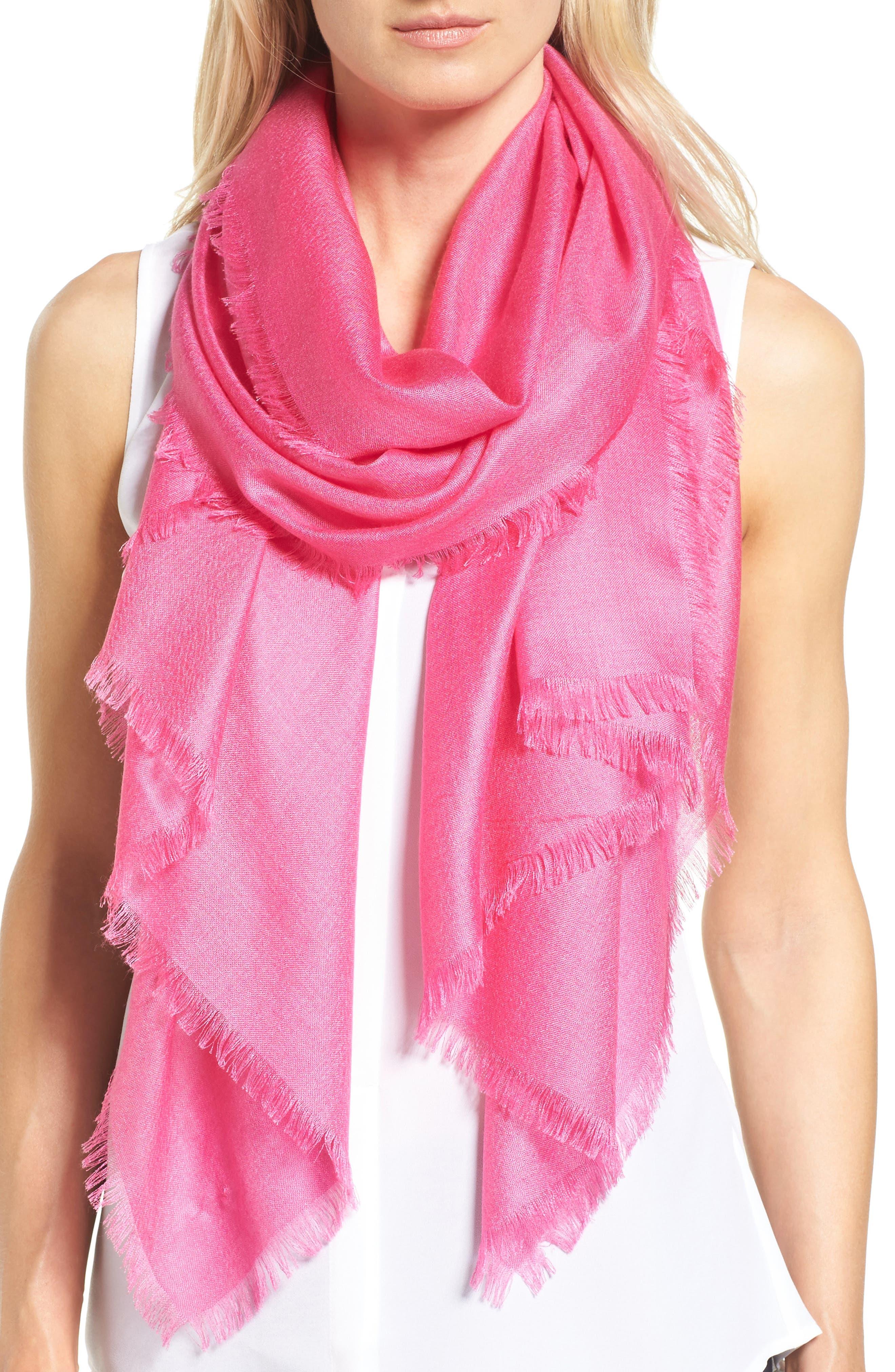 Alternate Image 1 Selected - Nordstrom Cashmere & Silk Wrap