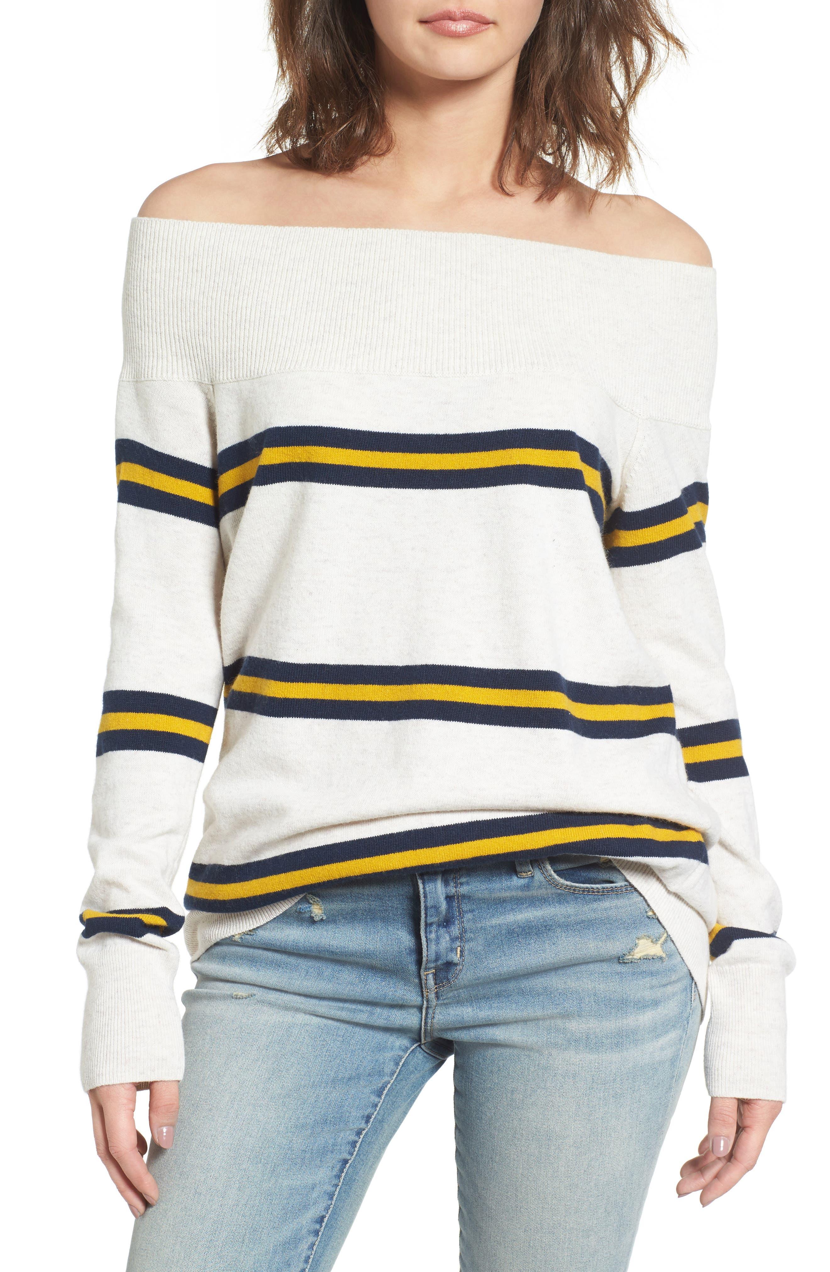 Alternate Image 1 Selected - Treasure & Bond Off the Shoulder Sweater